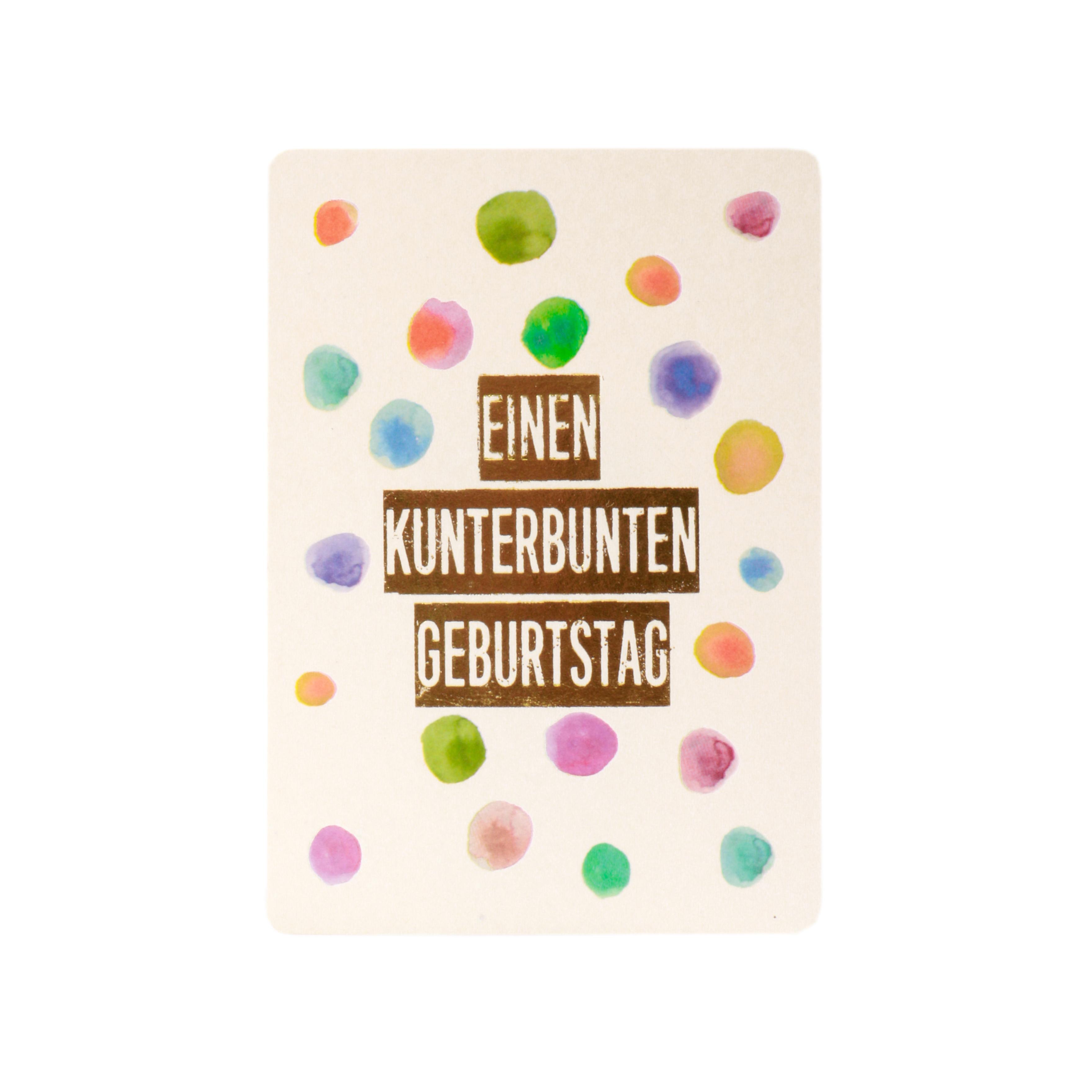 Postkarte - Einen kunterbunten Geburtstag - Good old friends