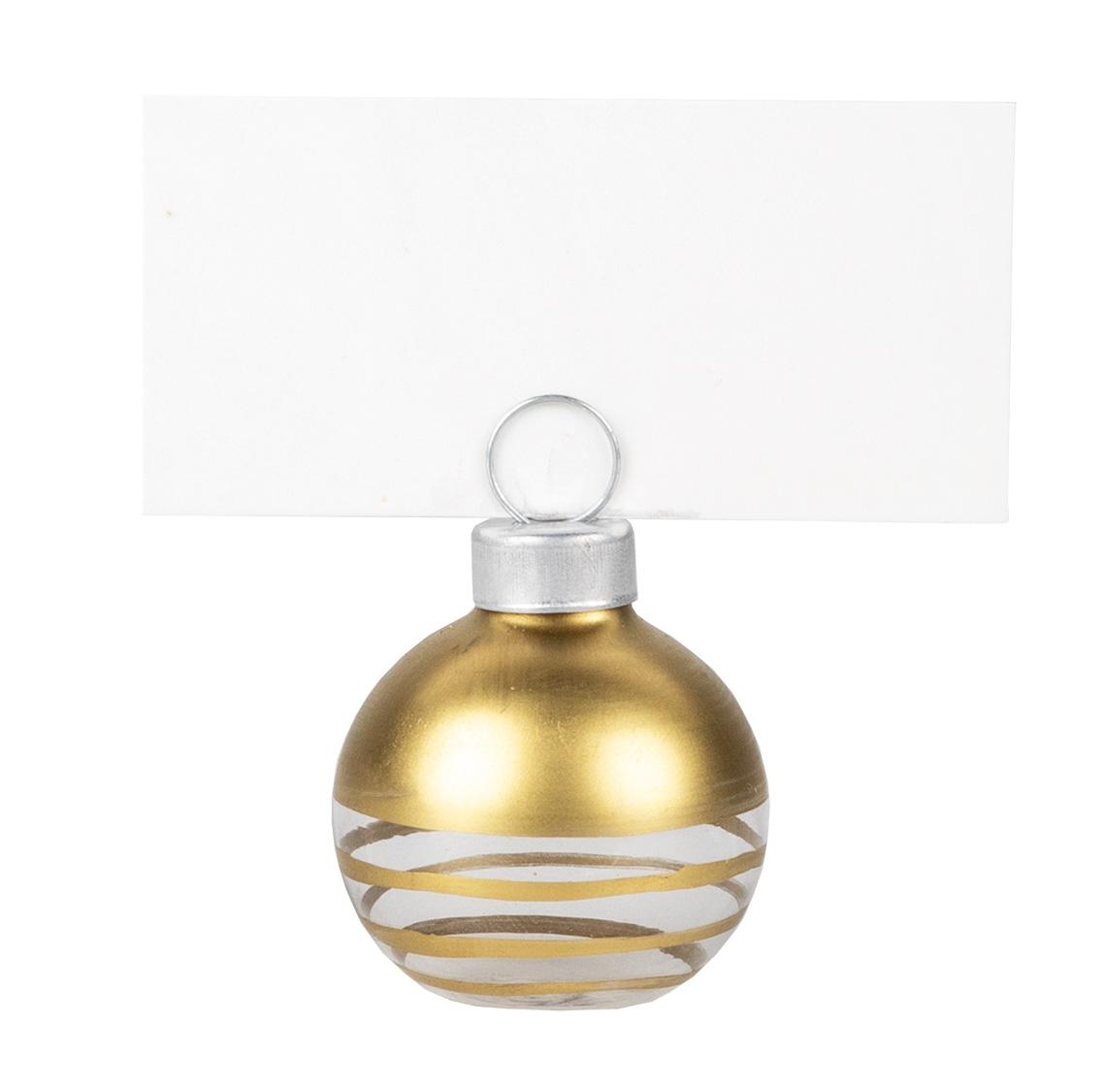 "Glas Tischkartenhalter. Set aus 6 inkl. 12 Karten ""Gold"" - räder (Xmas)"