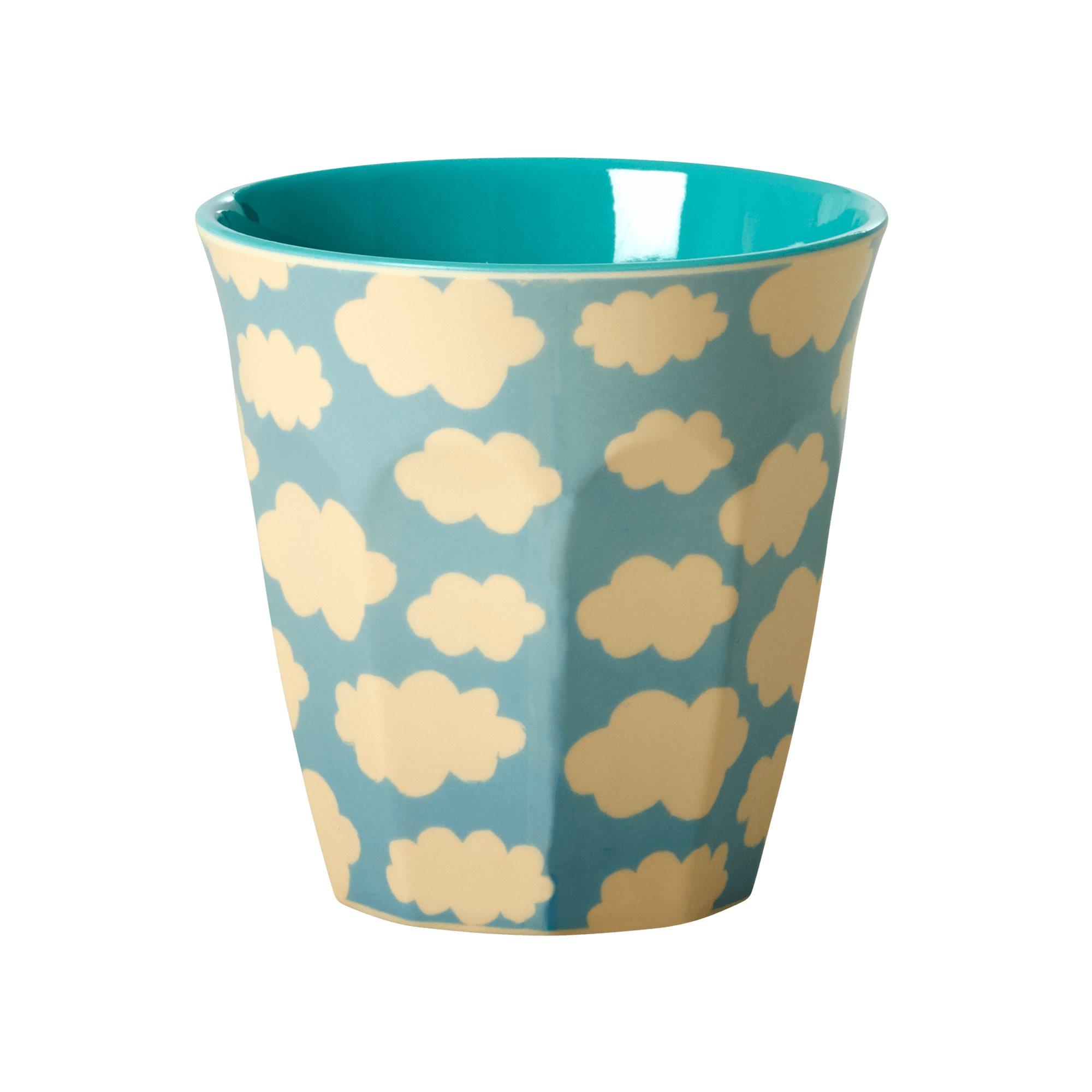 Medium Melamine Cup - Cloud Print - rice