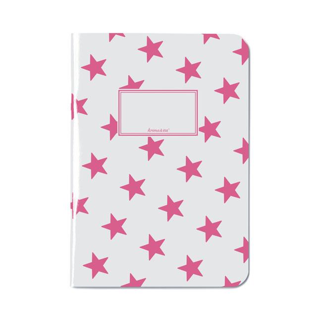 Notizheft A5 - Sterne Pink - krima&isa