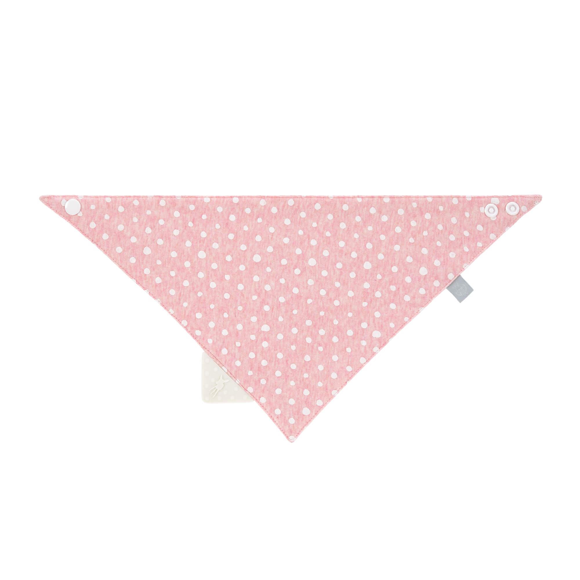 Dreieckstuch Baby - Bandana mit Beißhilfe - Lela Light Pink - Lässig
