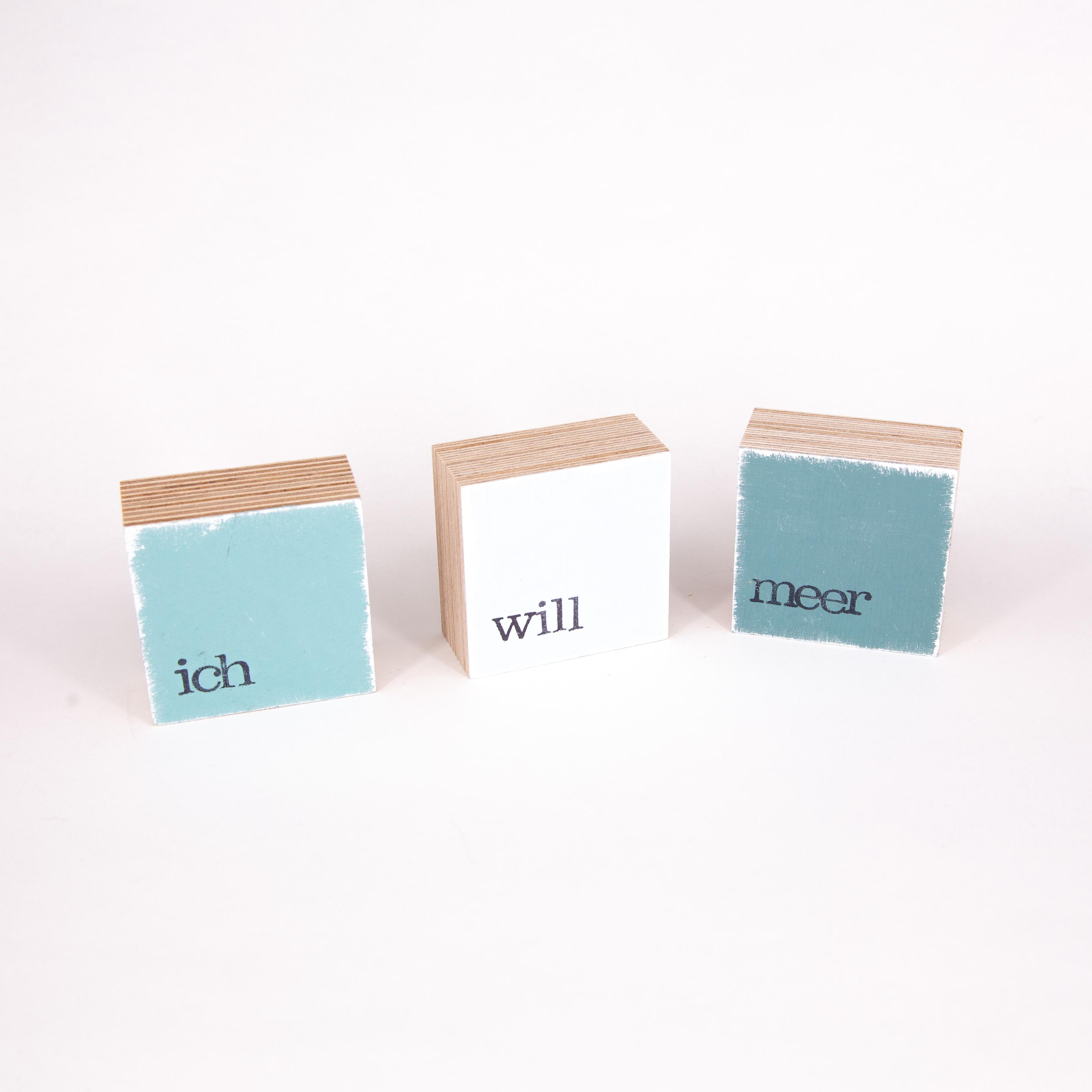 "Mini Textplatte - ""ich"" - iopla"