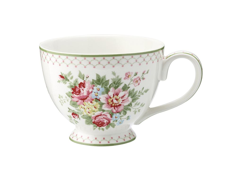 Teetasse mit Henkel - Aurelia white - Greengate