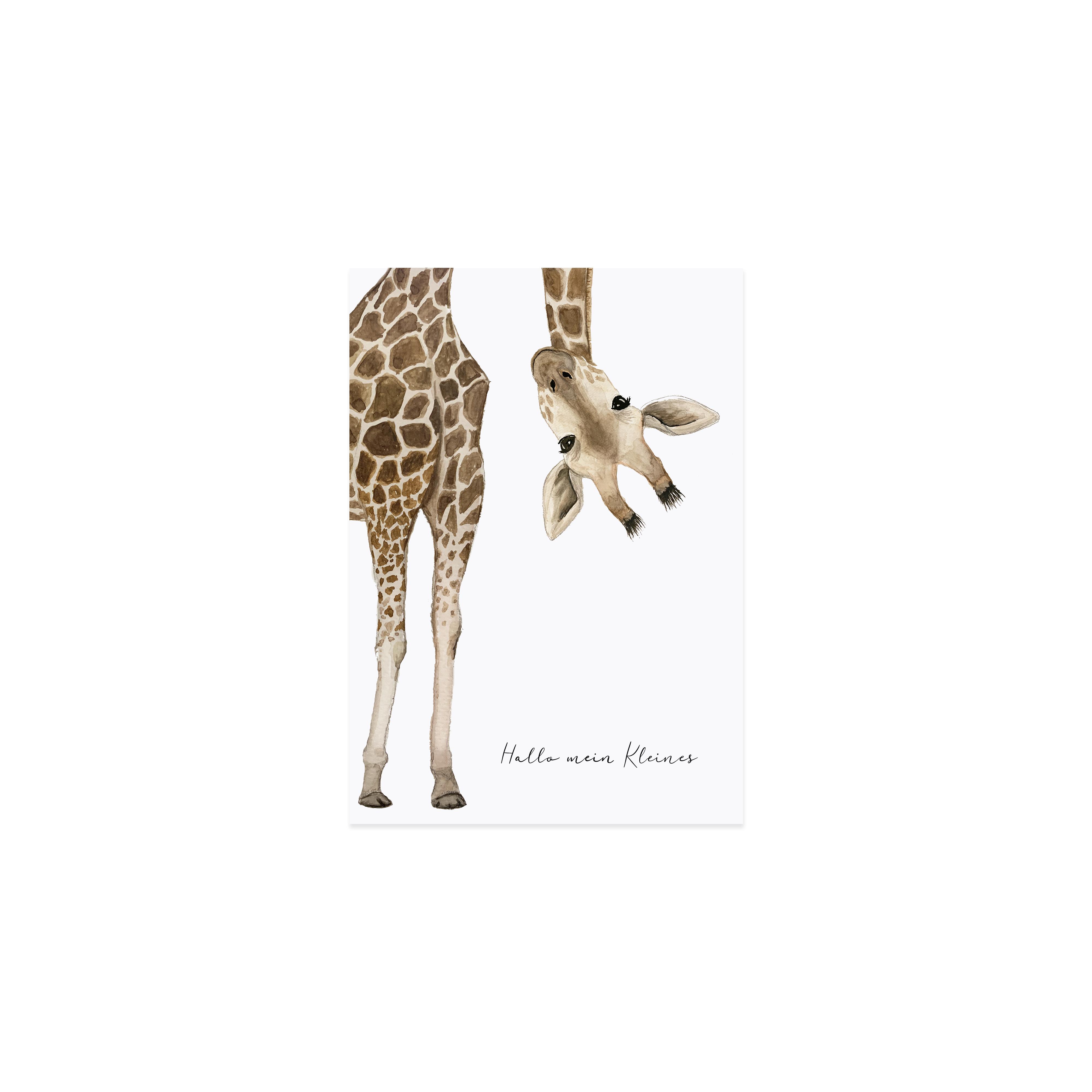 Postkarte - Giraffe - Eulenschnitt