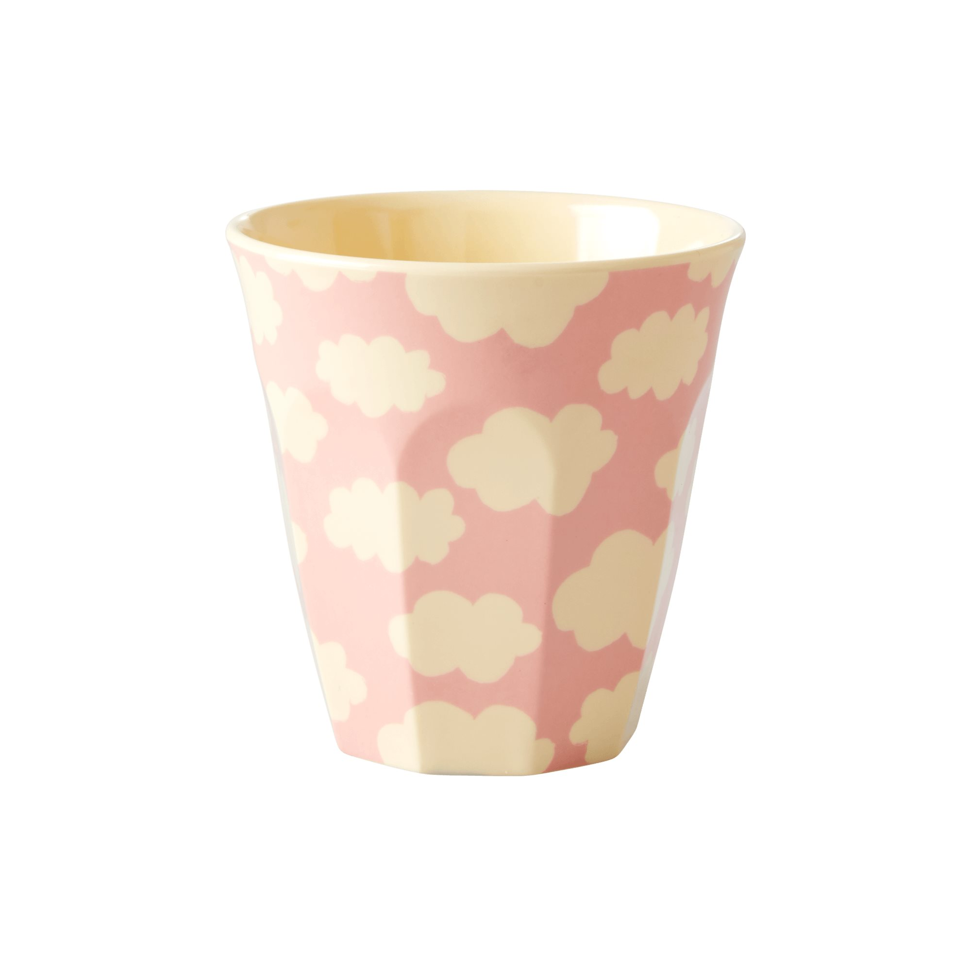 Small Melamine Kids Cup with Cloud Print - Pink - Small - rice