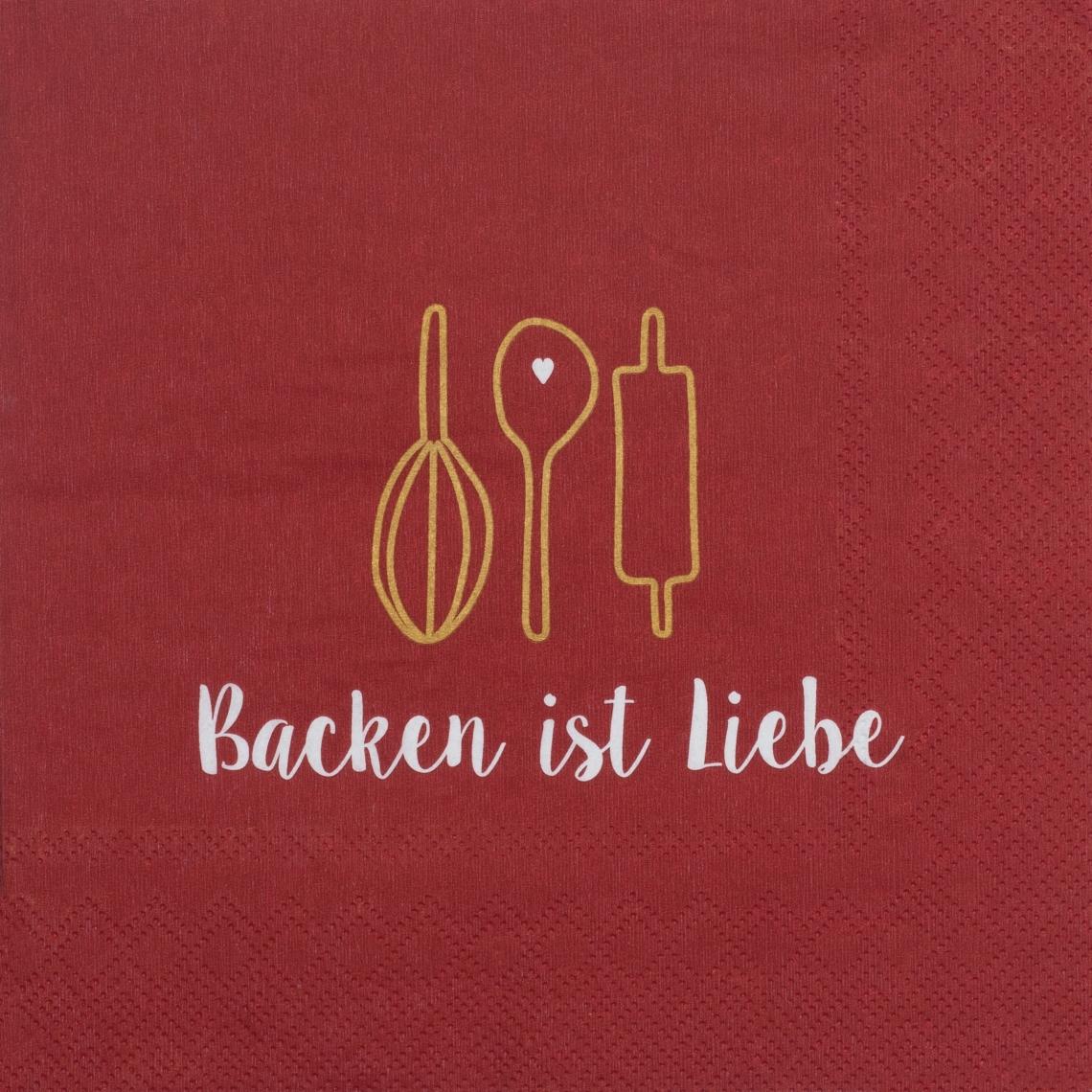 """Papierservietten """"Backen ist Liebe"""" - räder (Xmas)"""