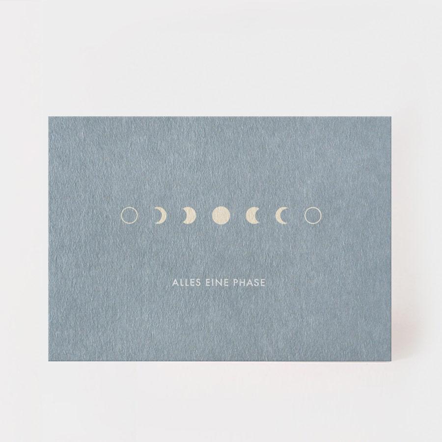 """Postkarte - """"Alles eine Phase"""" - Kartenmarie"""