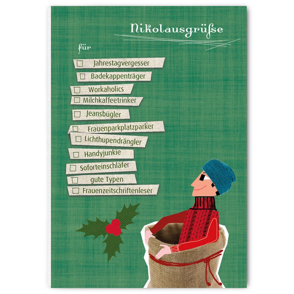 """Weihnachtspostkarte - """"Nikolausgrüße"""" - The Buttique"""
