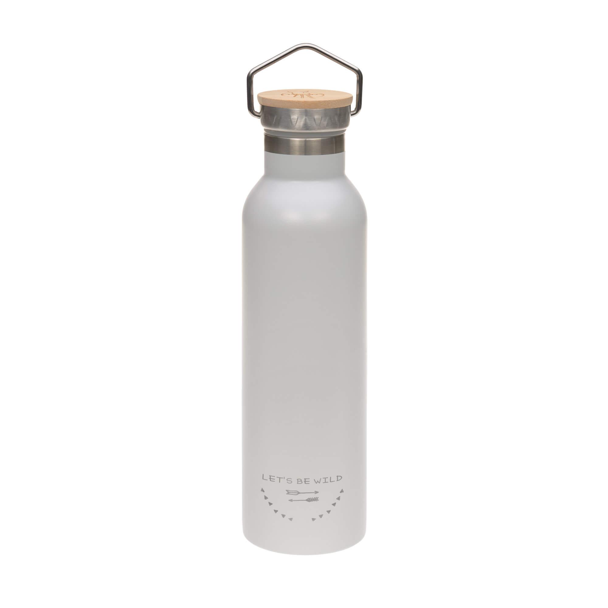 Kinder Trinkflasche Edelstahl (700 ml - Isoliert) - Adventure Grey- Lässig