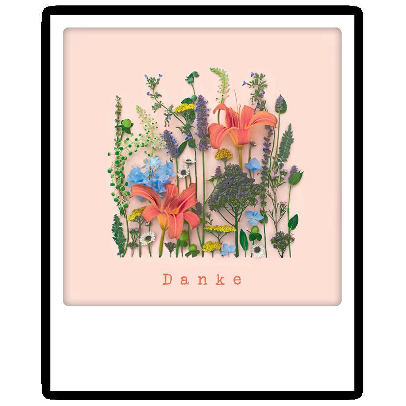 "Photo-Postkarte ""Danke Blumen"" - ZG 0896 - DE - Pickmotion"