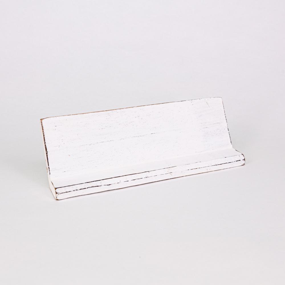 Holzleiste | Buchstabenbrett - 30 cm - weiß - für alle Holzbuchstaben und Holzzeichen im Scrabble-Style