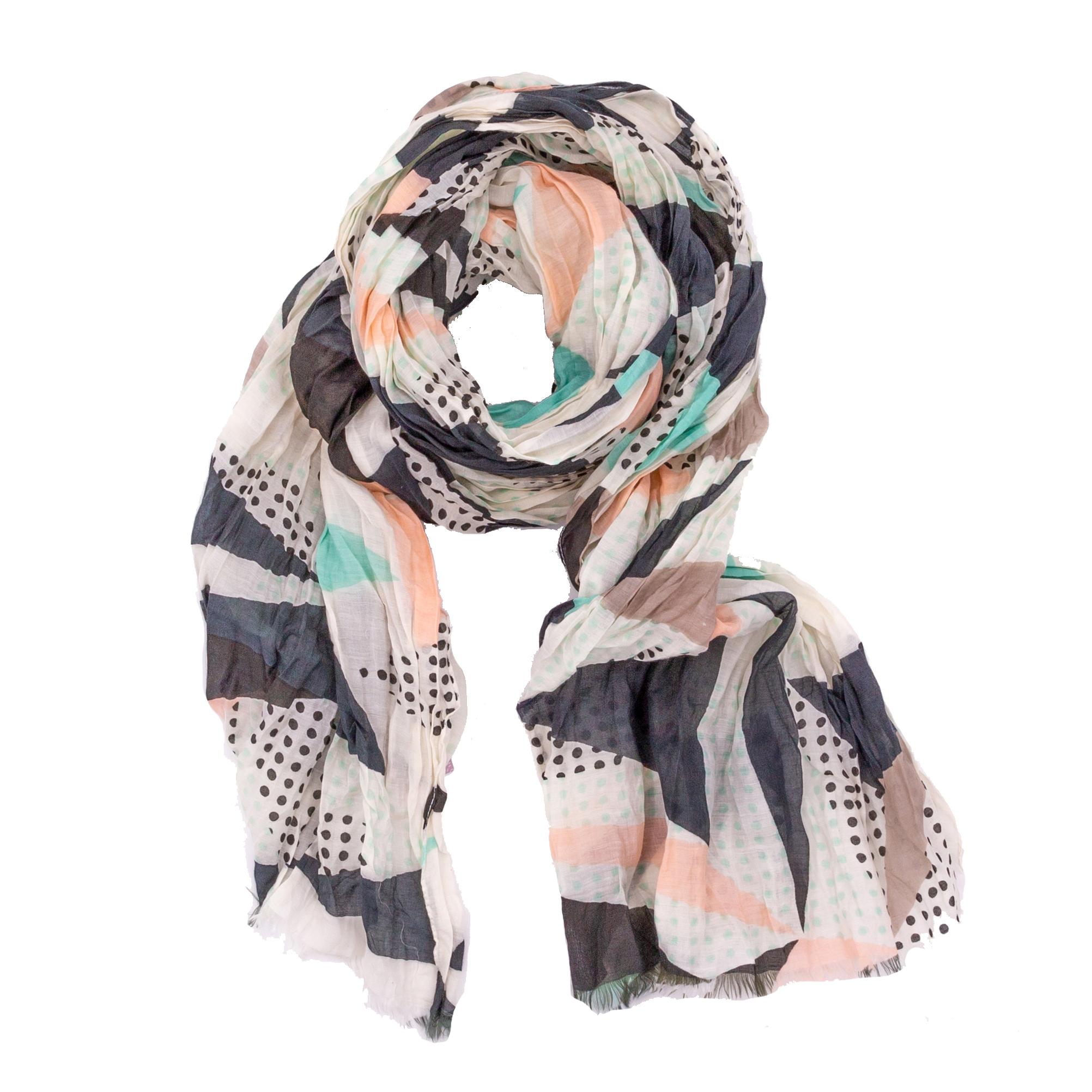 Halstuch | Schal - Muster - rosa/mint/schwarz - Yam Yam Fashion