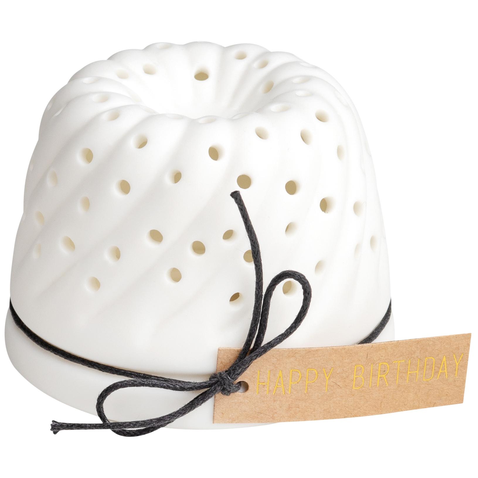LED Lichtbotschaft - Kuchen - Happy Birthday  - räder