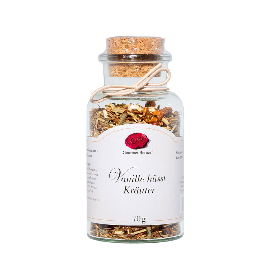 Vanille küsst Kräuter- Kräutertee - 70g Korkenglas - Gourmet Berner