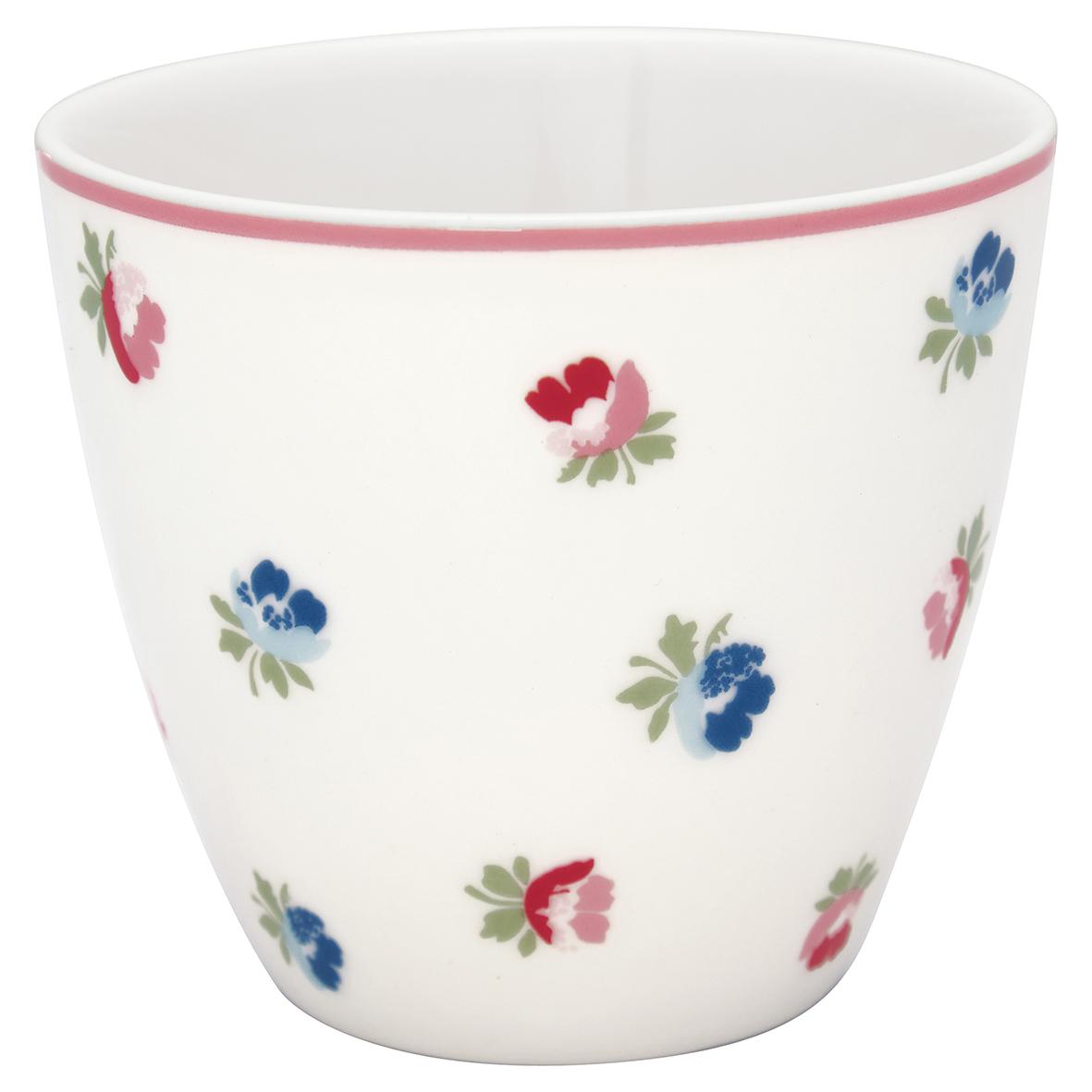 Latte Cup - Viola white - Greengate