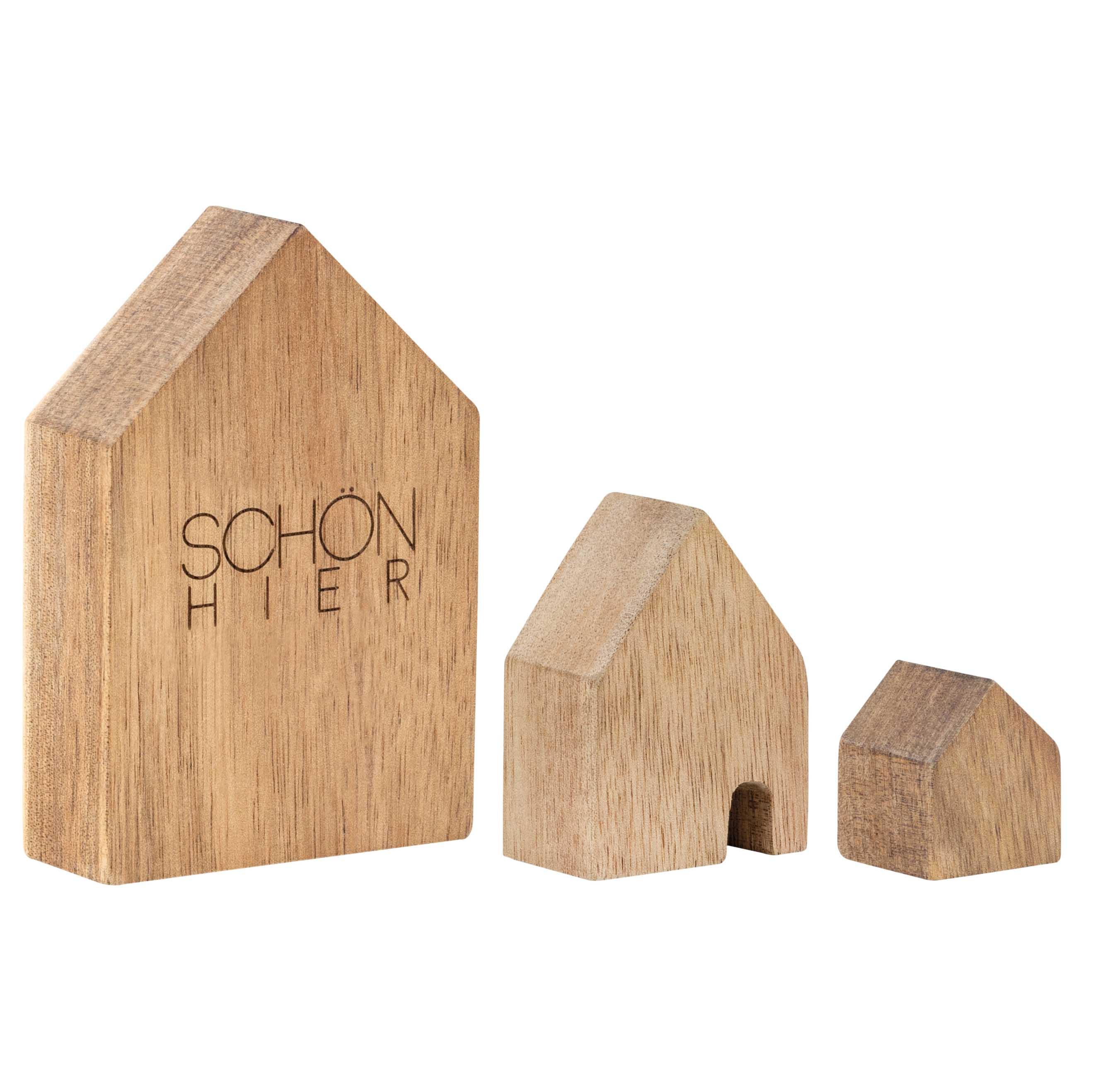 Holzhäuser - Schön hier - Set aus 3 - räder