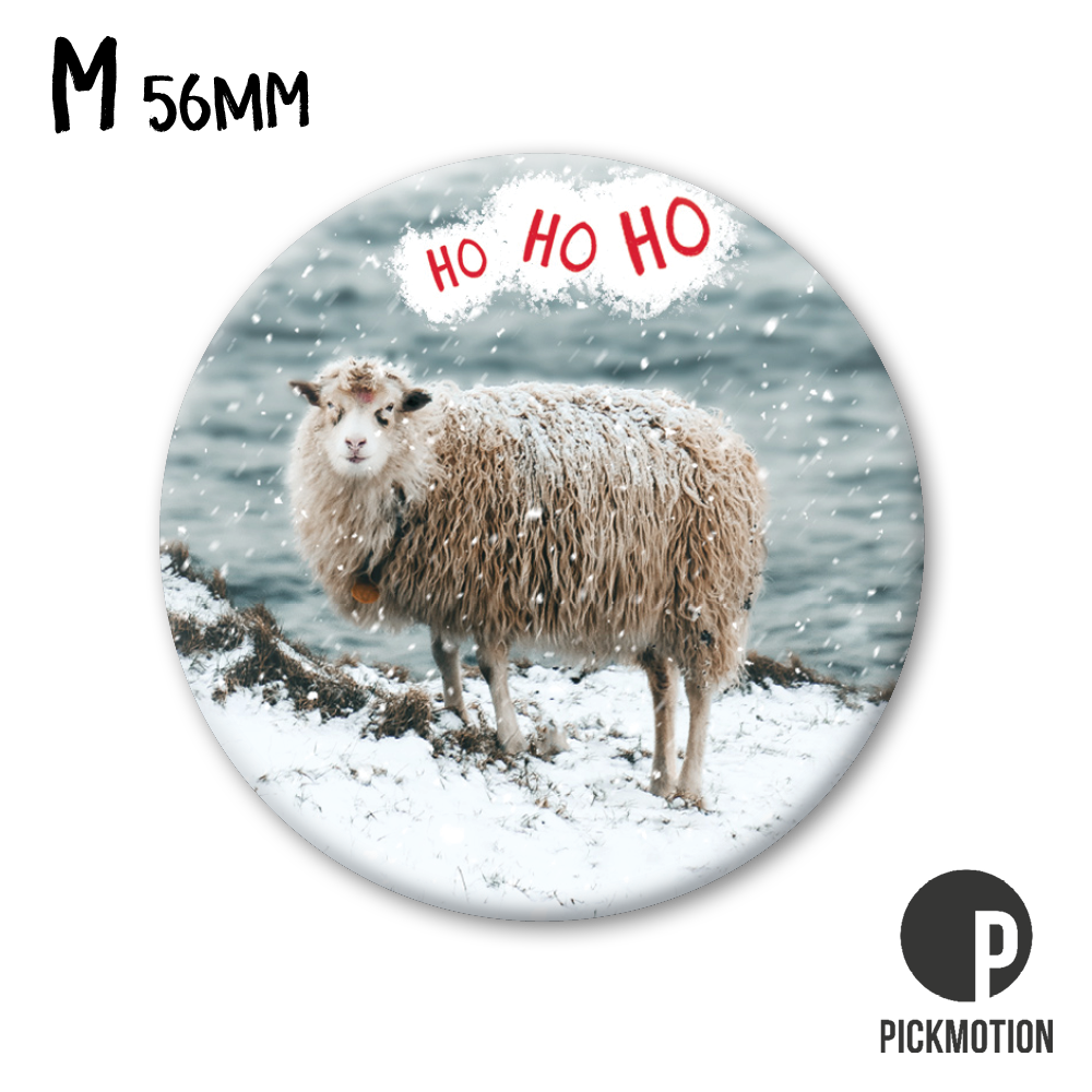"Kühlschrank-Magnet - Medium - ""ho ho ho"" - MM 0854-EN - Pickmotion (Xmas)"
