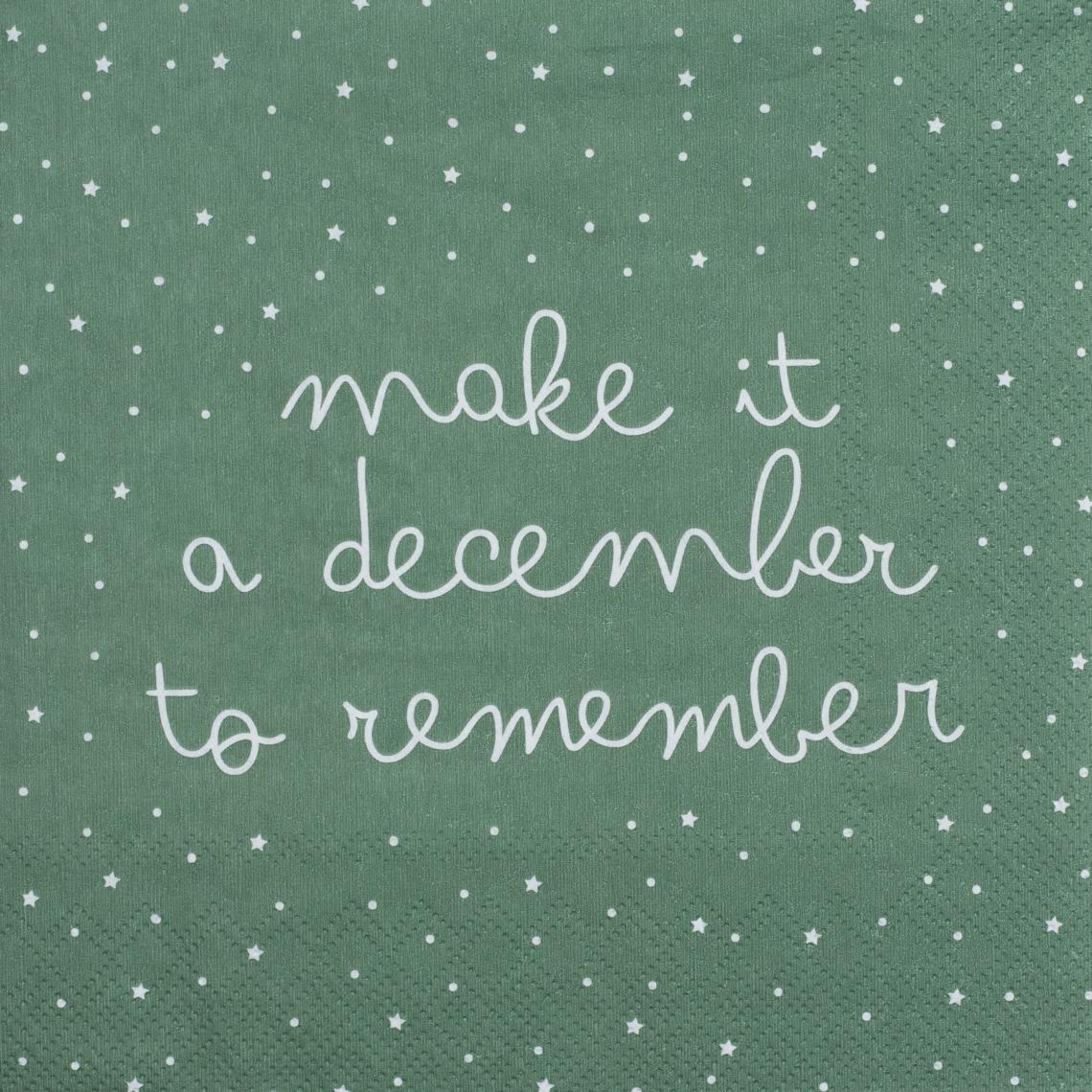 "Papierservietten ""december to remember"" - räder (Xmas)"