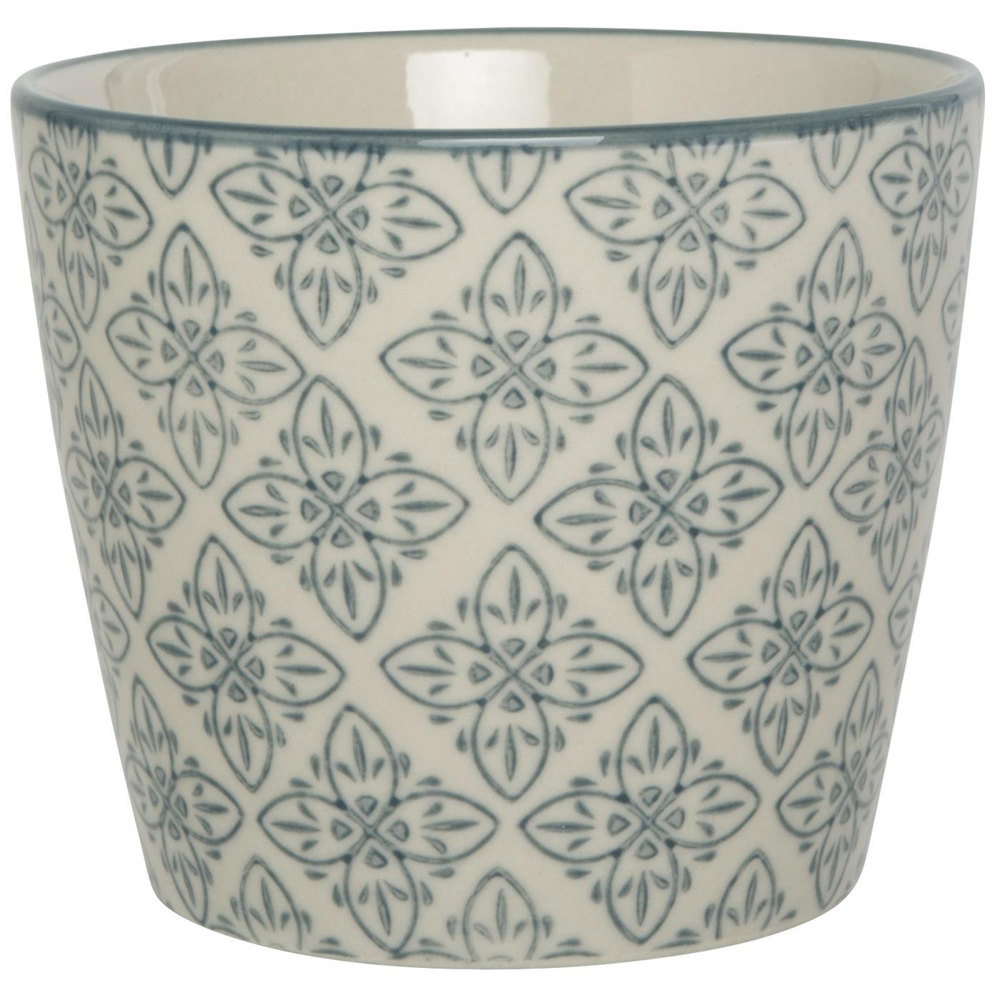 Becher gross - mit grauem Ornament - Muster D - Casablanca - IB Laursen