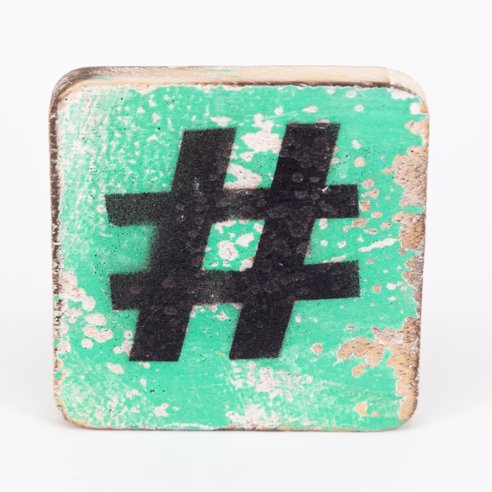 Holzsymbol - # - im Scrabble-Style