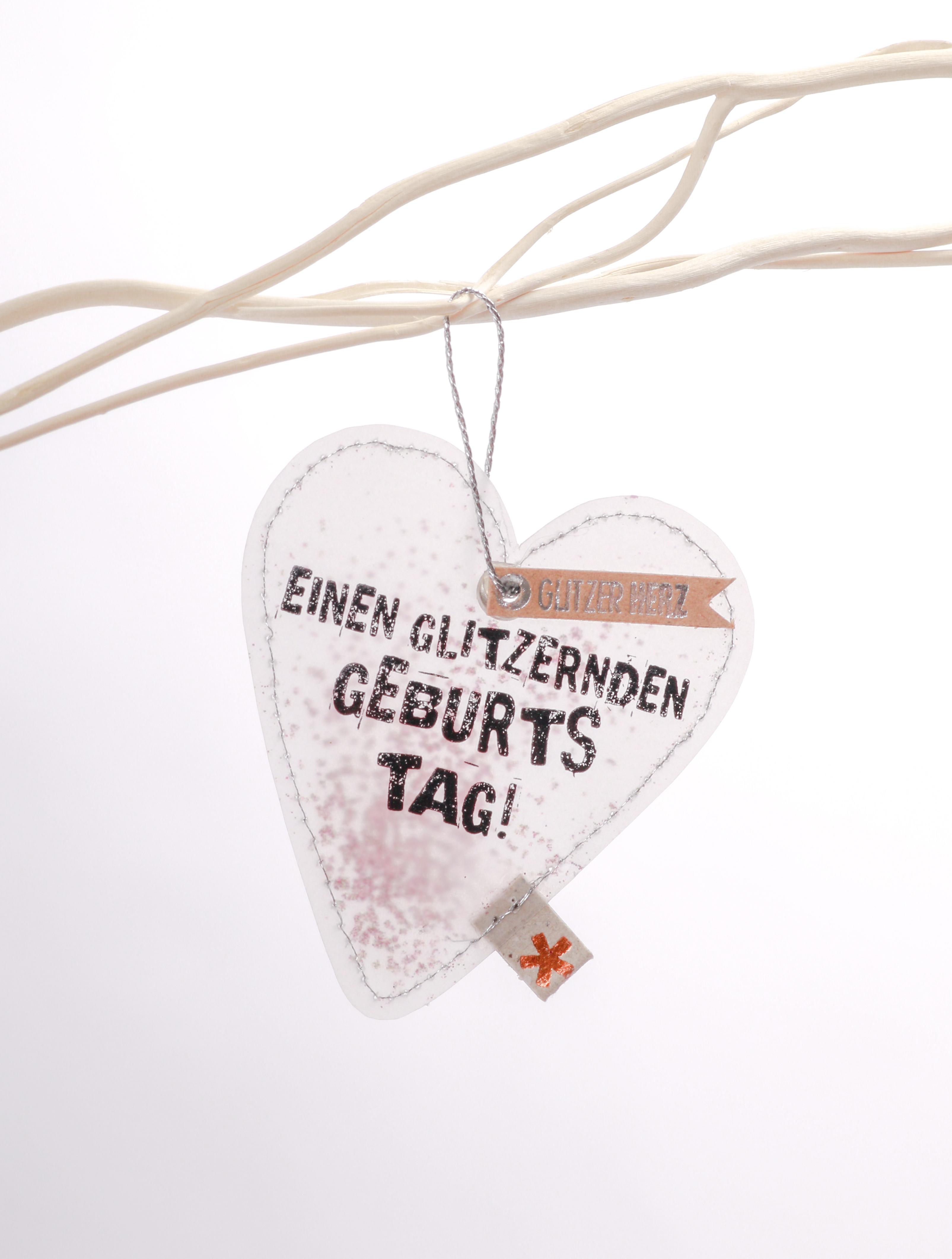 Glitzerherzen - Glitzergeburtstag - Good old friends