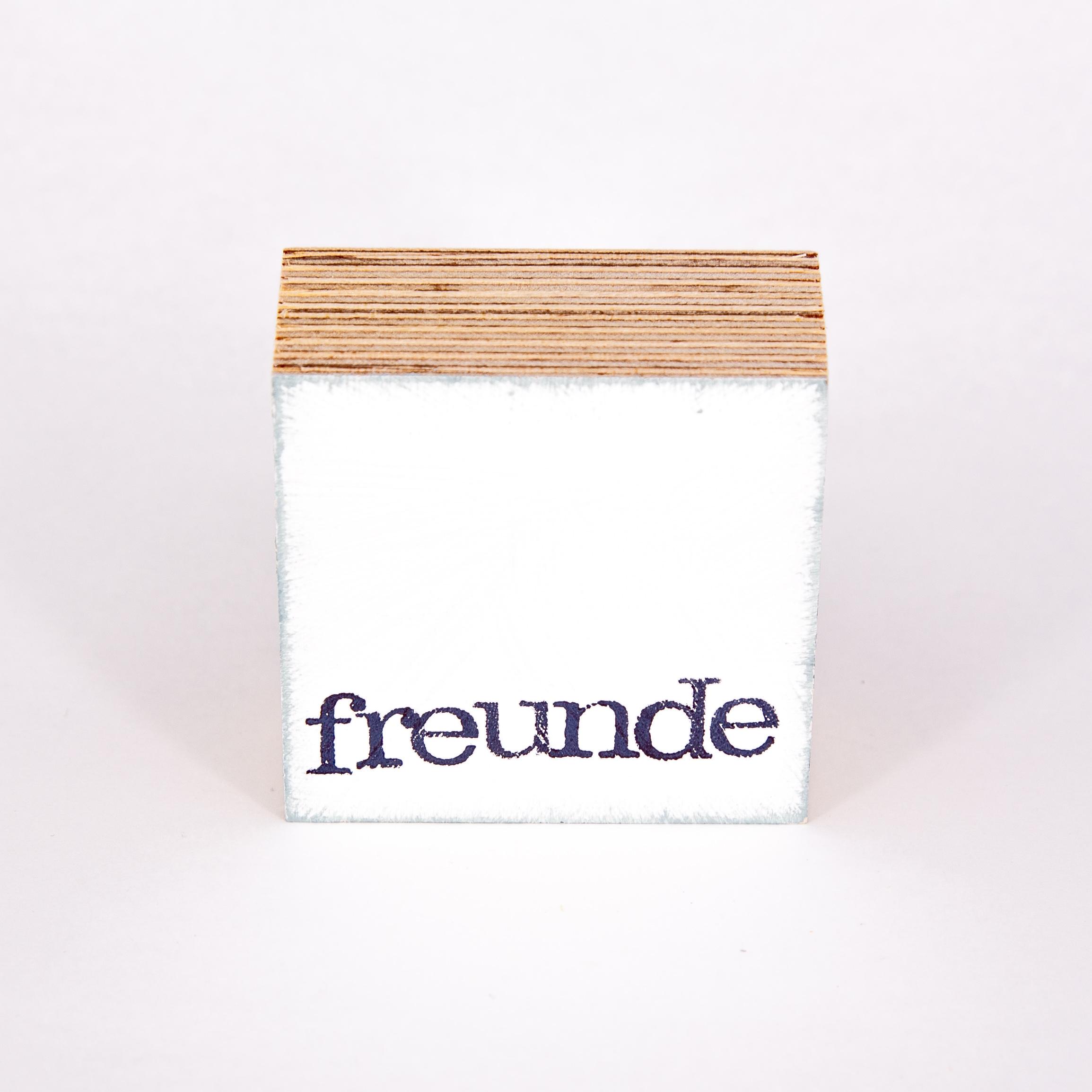 """Mini Textplatte - """"freunde"""" - iopla"""