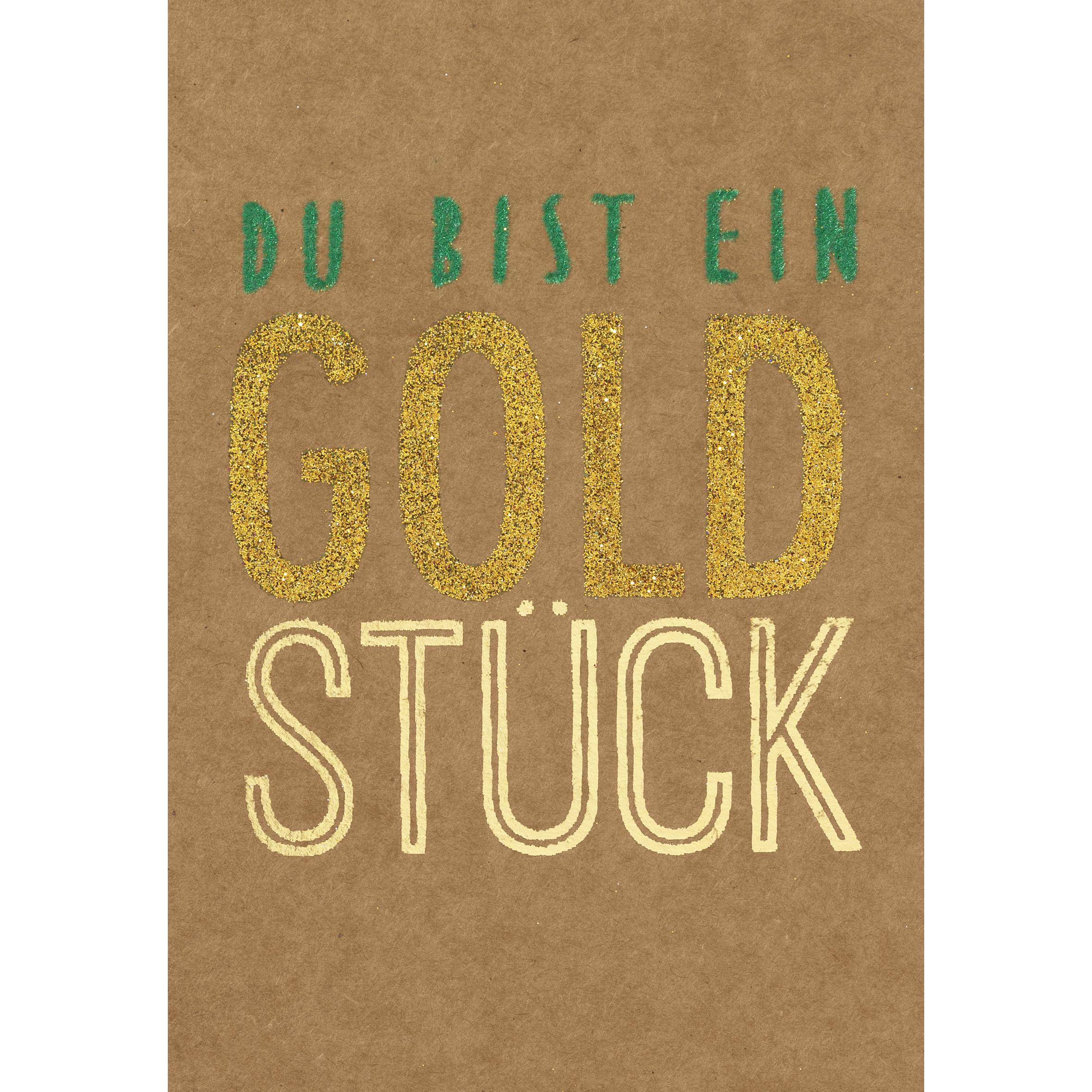"""Glanzstück Karte """"Du bist ein Goldstück"""" - räder"""