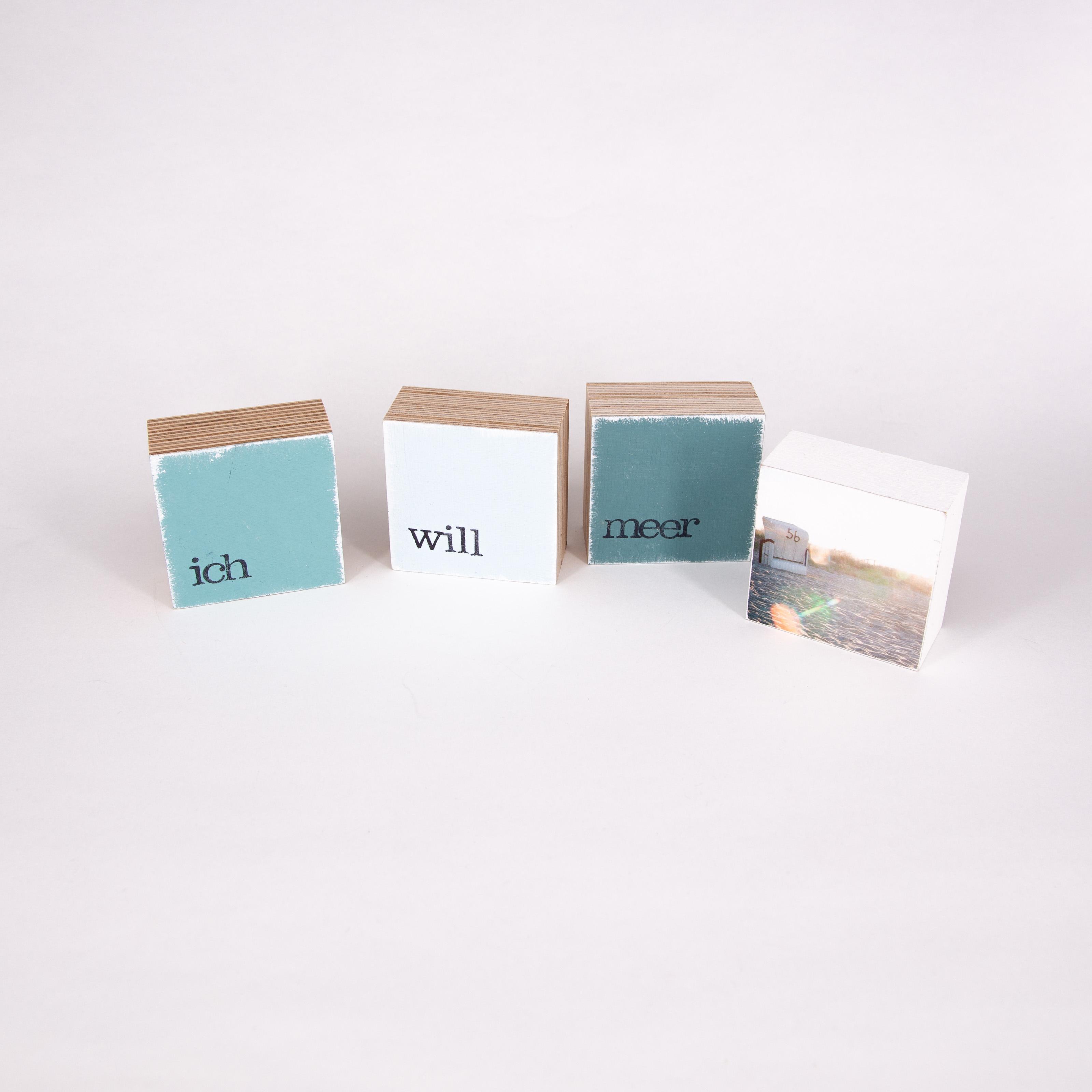"""Mini Textplatte - """"meer"""" - iopla"""