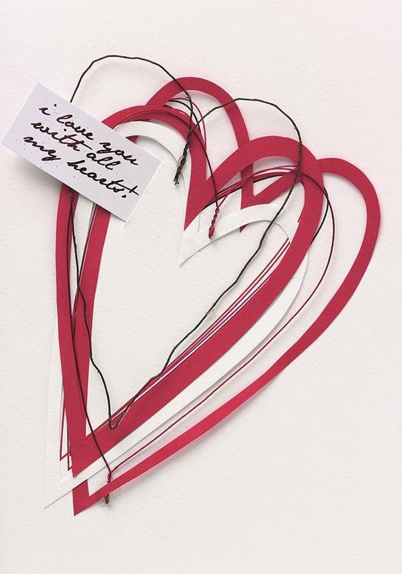 Postkarte - Herz - räder