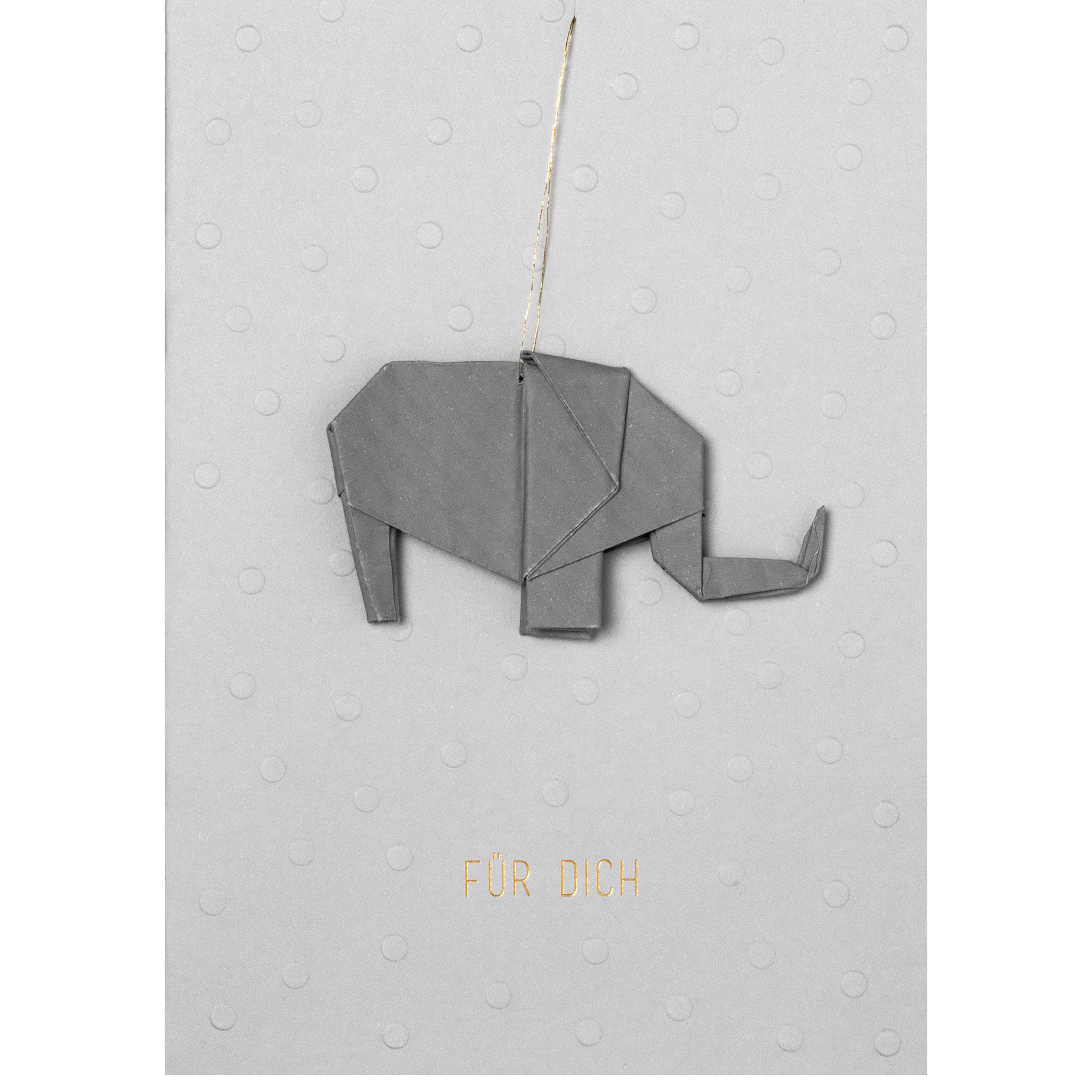 """Origamikarte """"Elefant"""" - räder"""