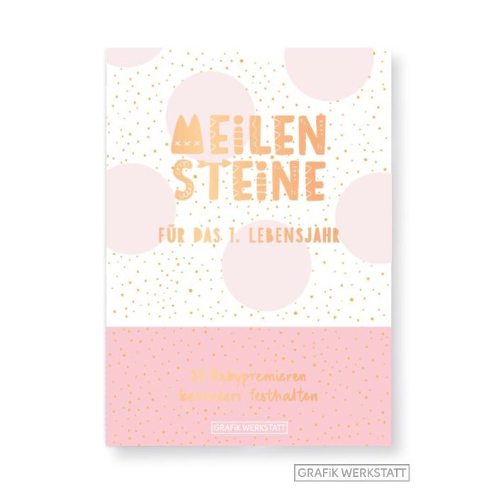 Meilenstein-Box für das 1. Lebensjahr (Mädchen) - Grafik Werkstatt