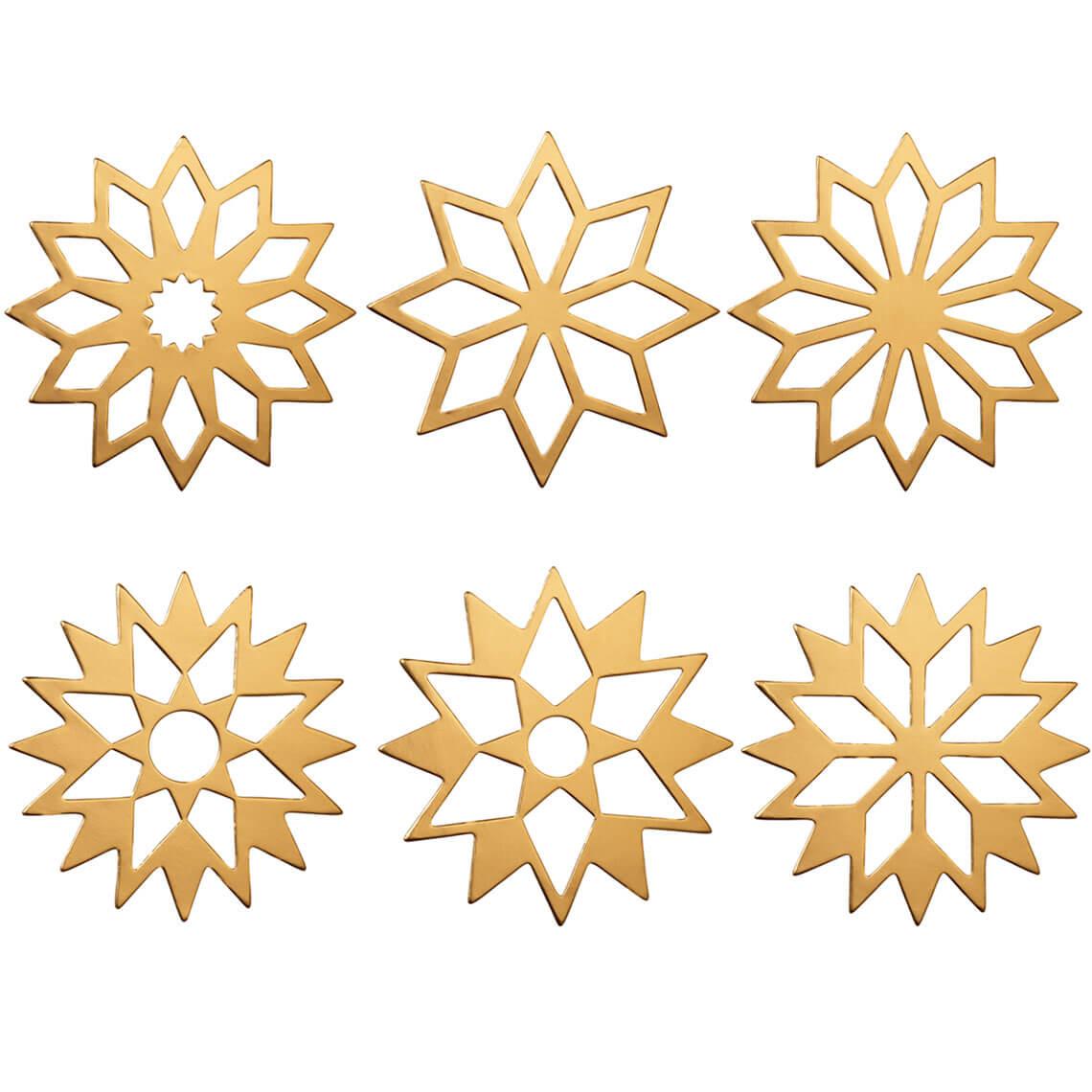 "Tafelsterne gold ""Set aus 6"" - räder (Xmas)"
