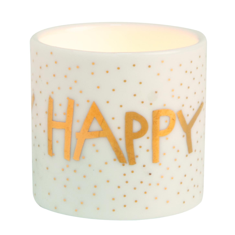"""Teelicht - Helle Freude """"Happy"""" - räder"""