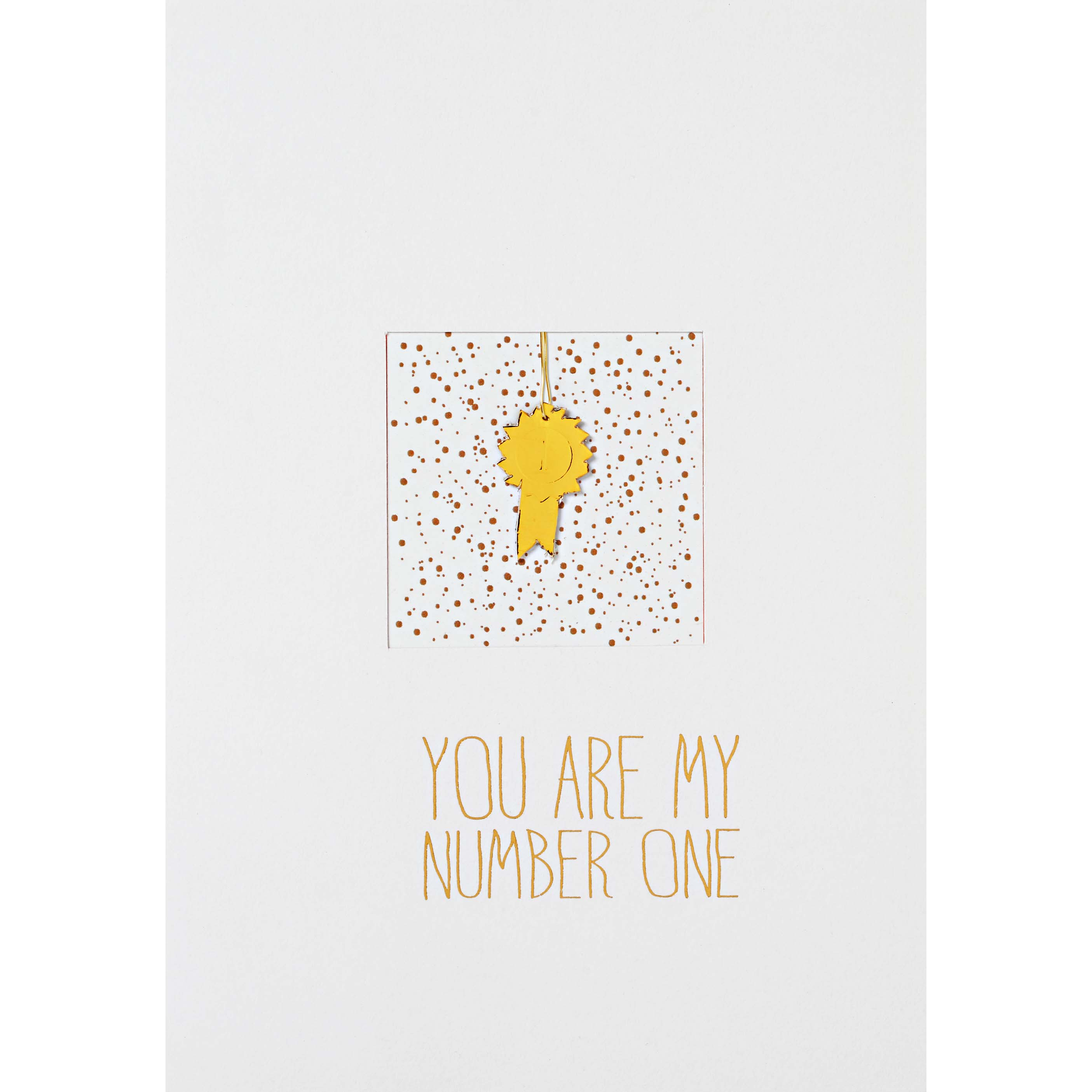 "Fensterkarte ""You are my number one"" - räder"