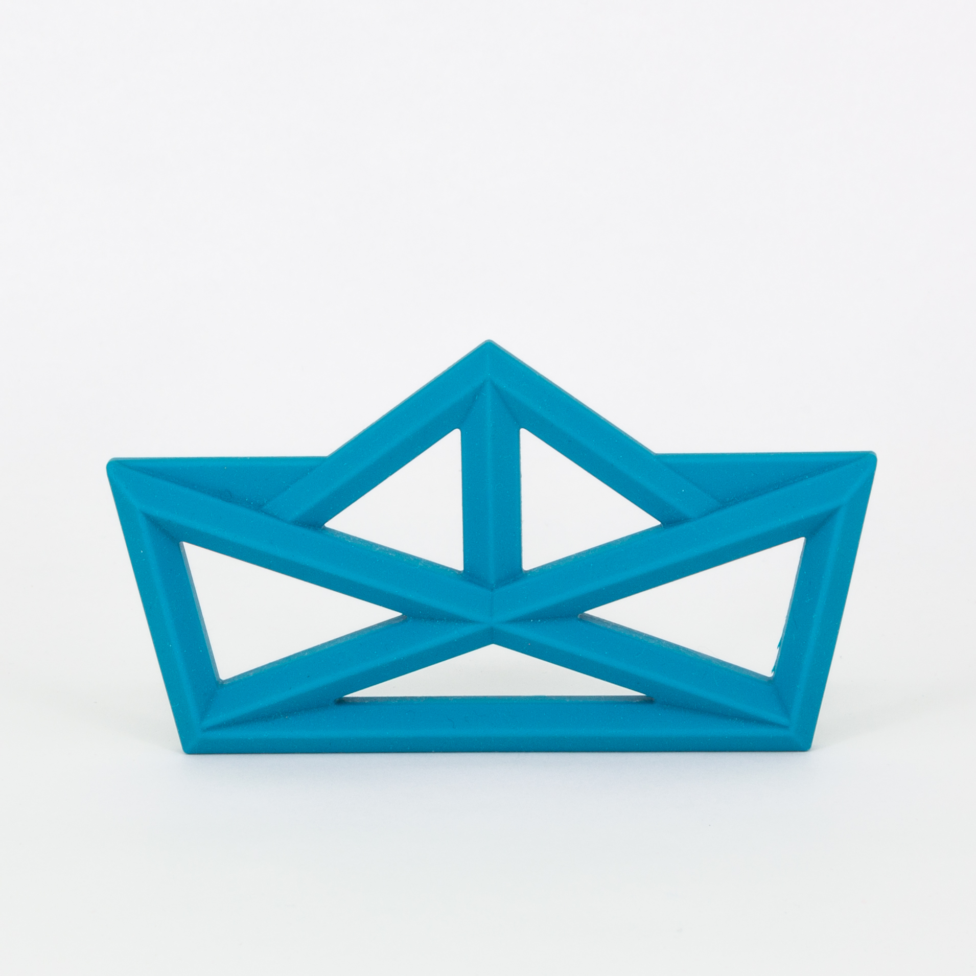 Beißring Silikon - Origami Schiff - blue - the cotton cloud