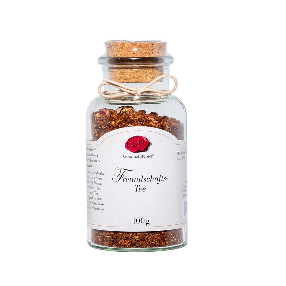 Freundschaftstee - Rotbuschtee im 100g Korkenglas - Gourmet Berner