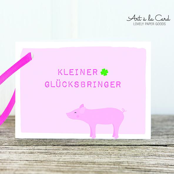 Geschenkanhänger - Glücksbringer - Art a la Card