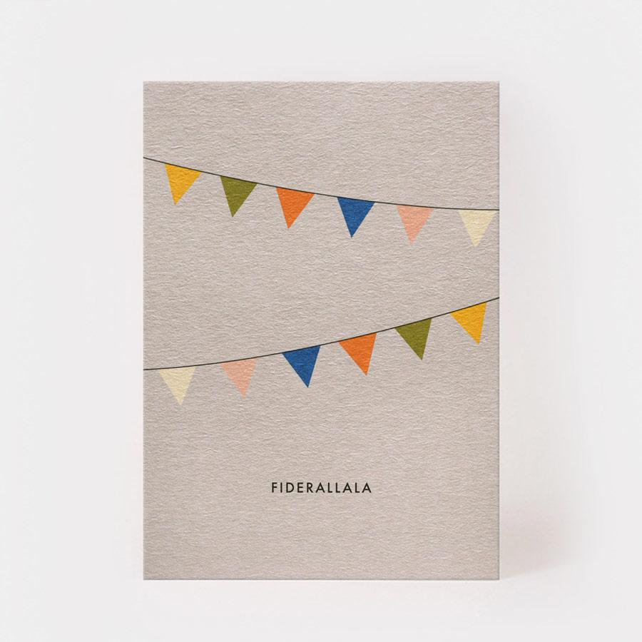 "Postkarte - ""Fideralala"" - Kartenmarie"