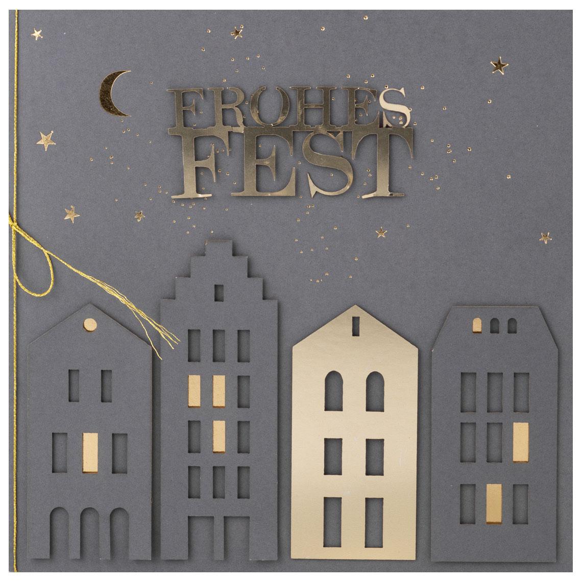"""Weihnachtsfestkarte """"Frohes Fest"""" - räder (Xmas)"""