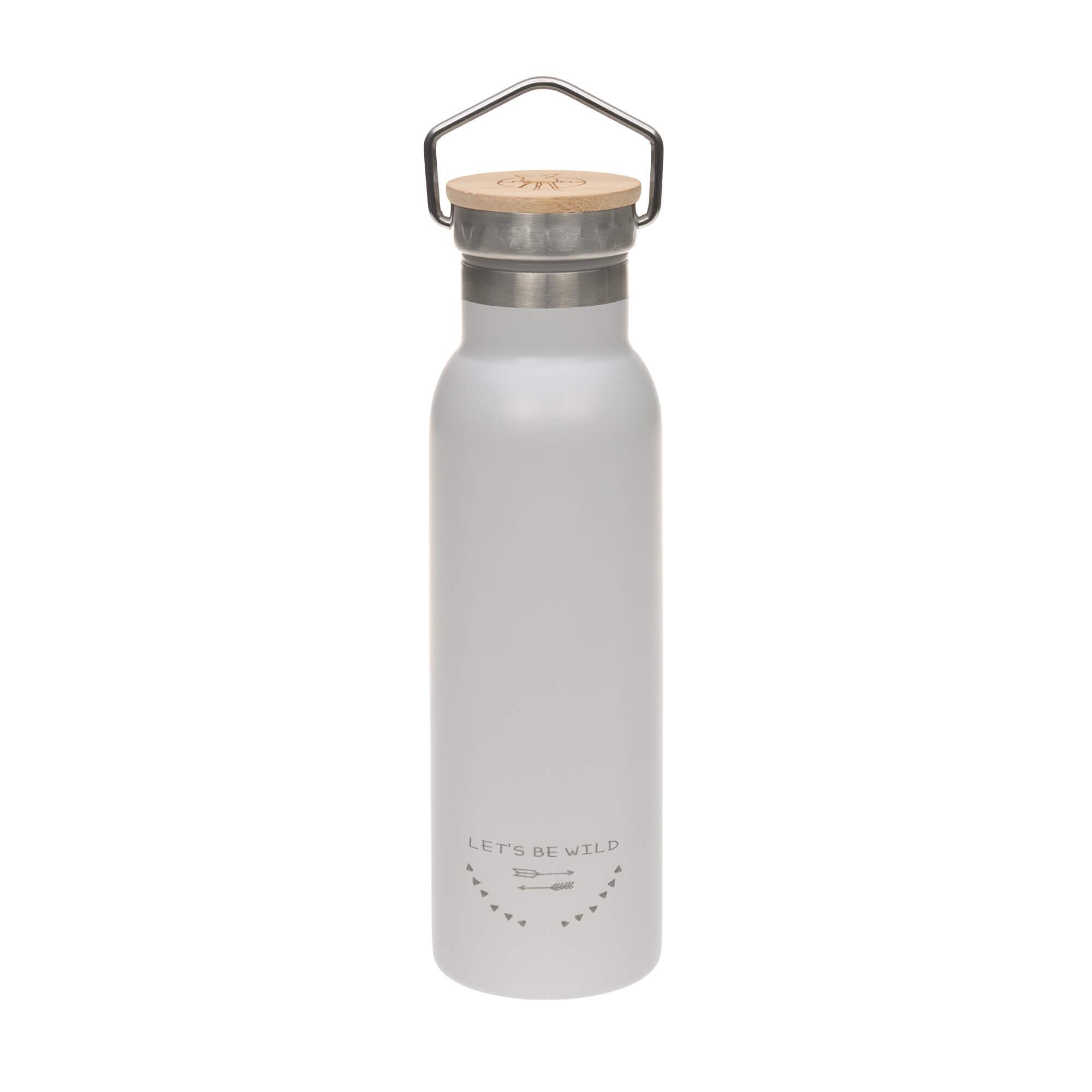 Kinder Trinkflasche Edelstahl (460 ml - isoliert) - Adventure Grey - Lässig