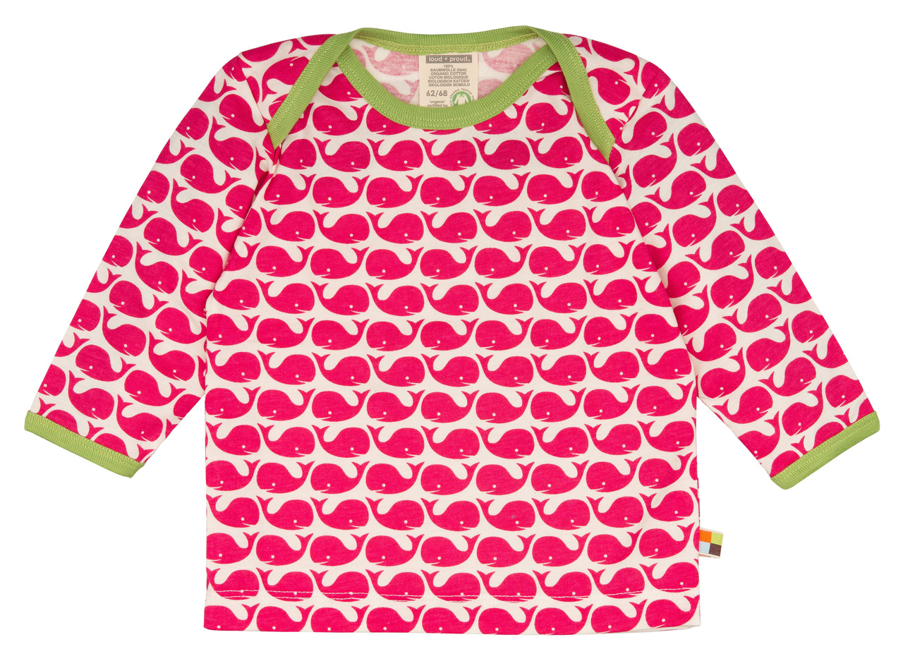 Langarm-Shirt - Rosenrot - Loud+Proud