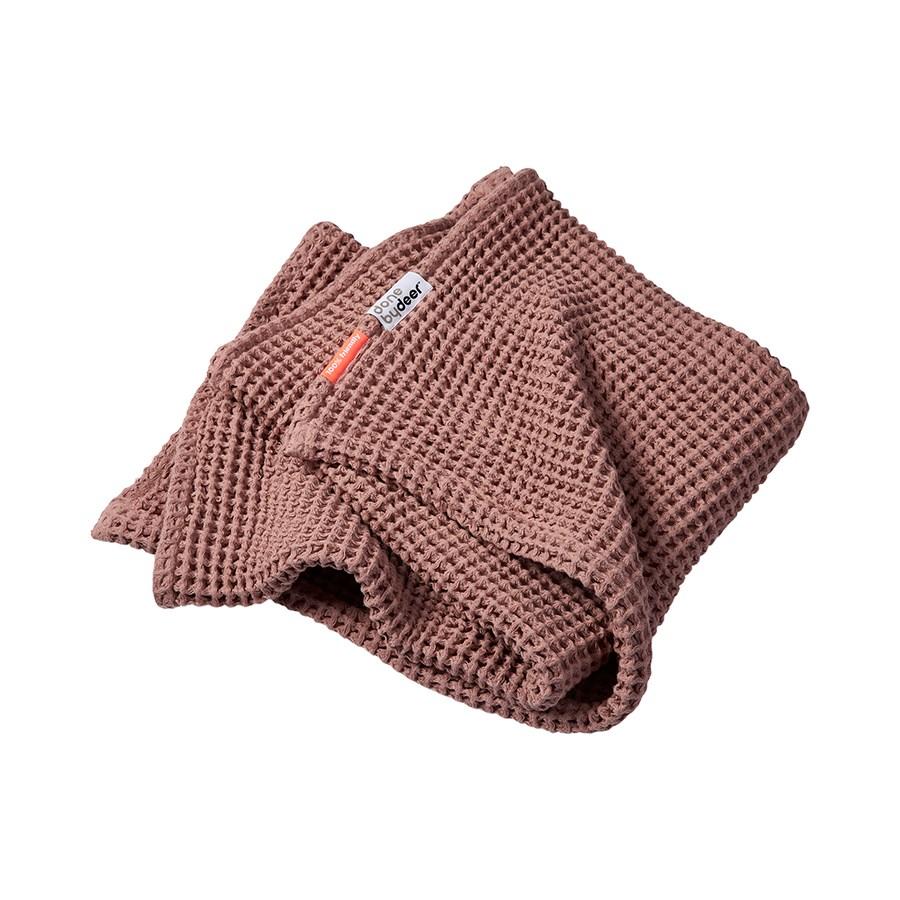Babydecke rosa - Waffle blanket - 80 x 100 cm -  powder - Done by Deer