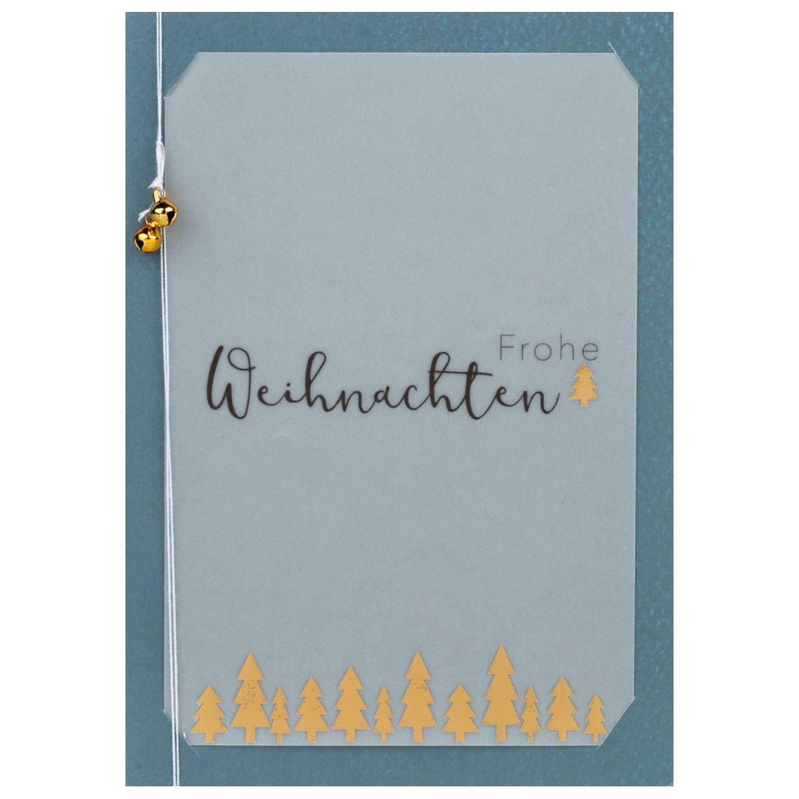 """Glockenkarte """"Frohe Weihnachten"""" - räder (Xmas)"""