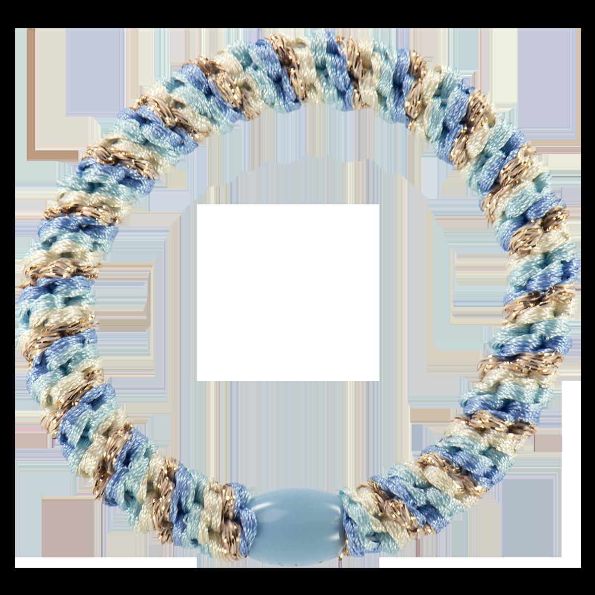 Haargummi / Armband - Mix Light blue gold 50131 - KKNEKKI