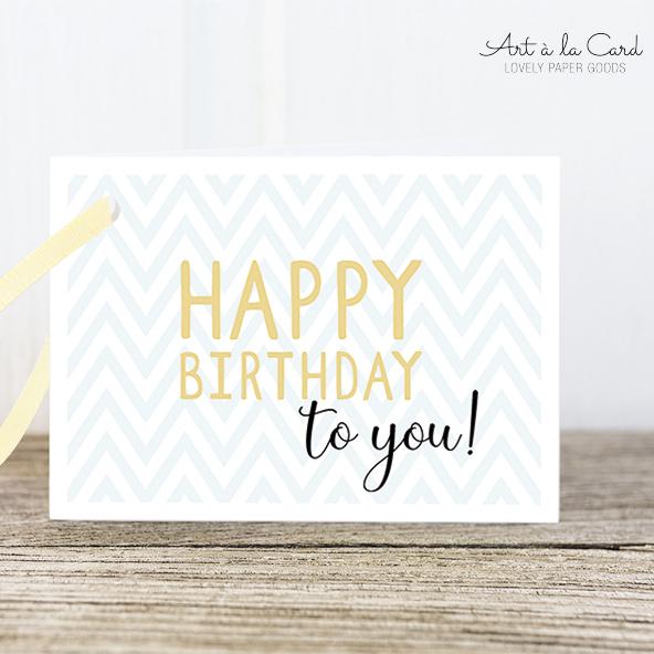Geschenkanhänger - Happy Birthday - Geburtstag - Art a la Card
