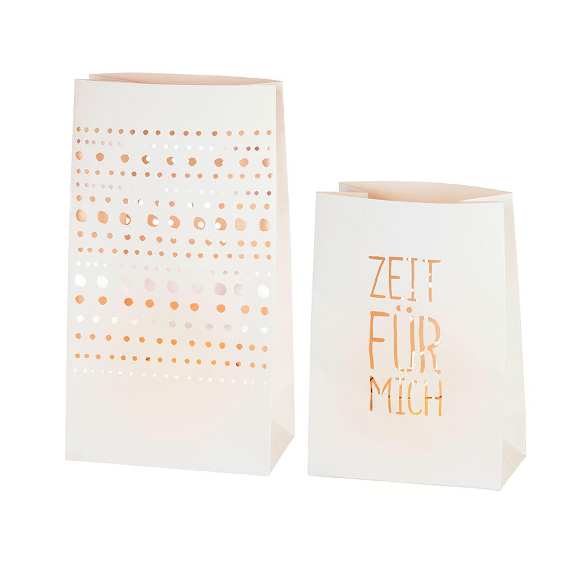 """Lichttüten 2er Set """"Zeit für mich"""" - räder"""
