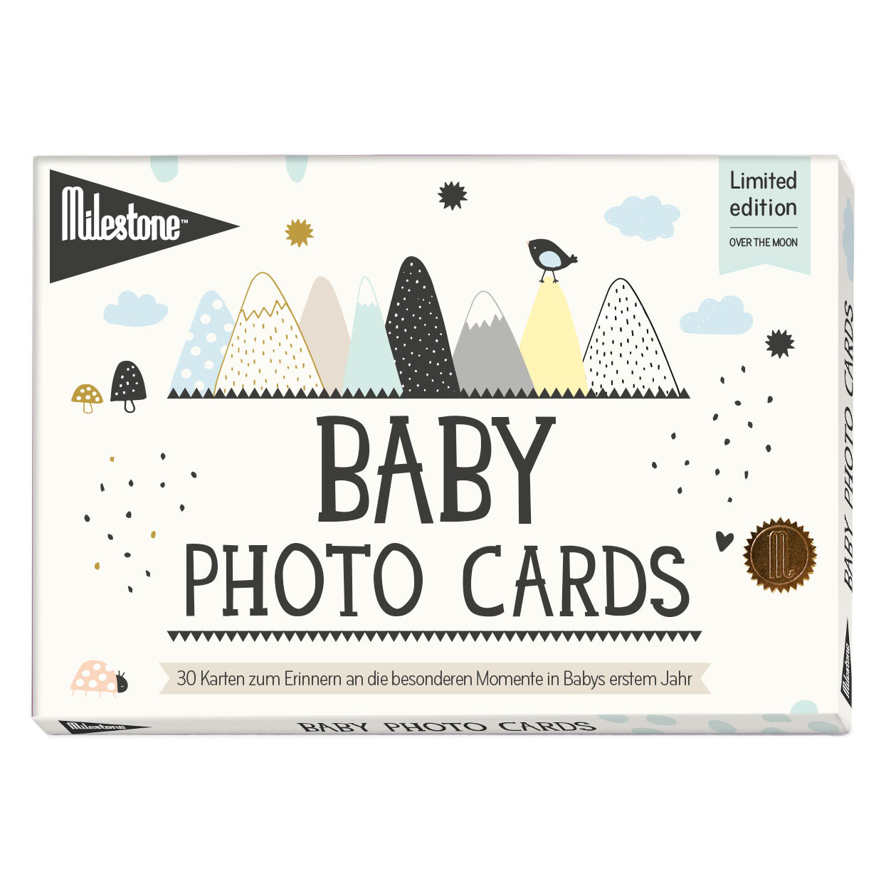 Baby Photo Cards - Over the moon - deutsche Version - Milestone