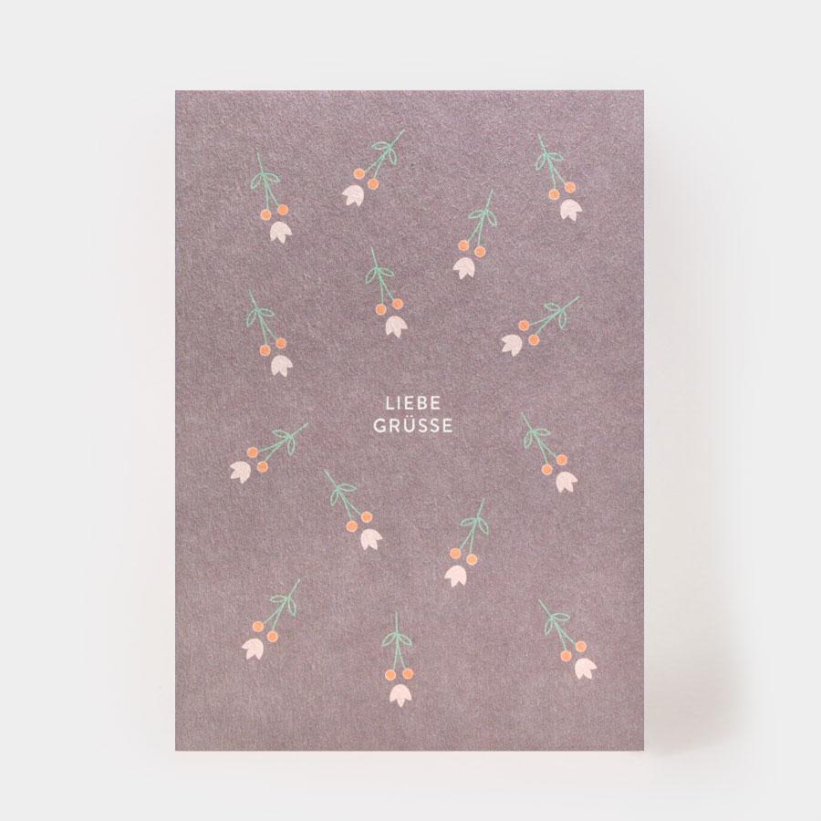 "Postkarte - ""Liebe Grüsse"" - Kartenmarie"