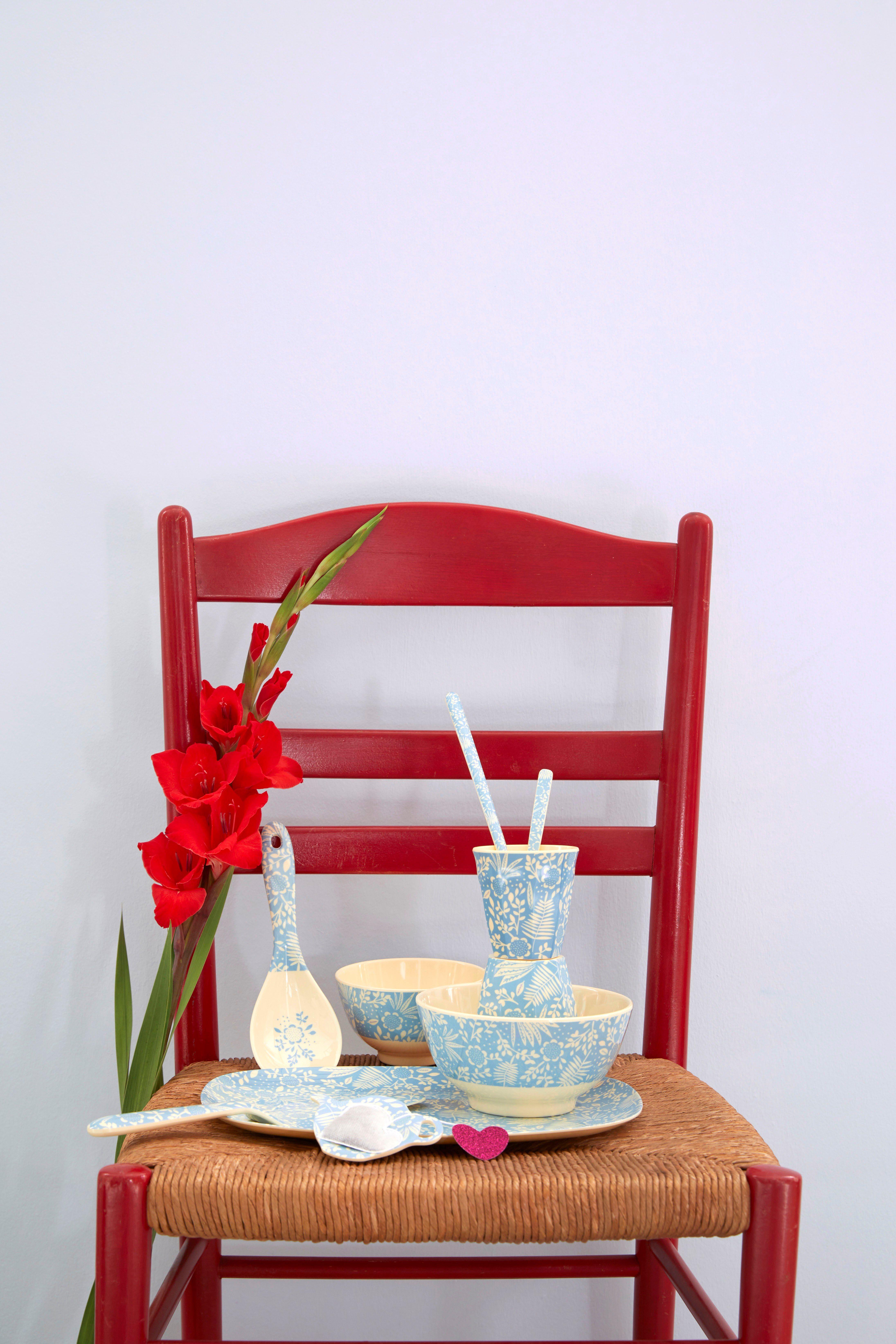 Medium Melamine Cup - Cloud Print - rice