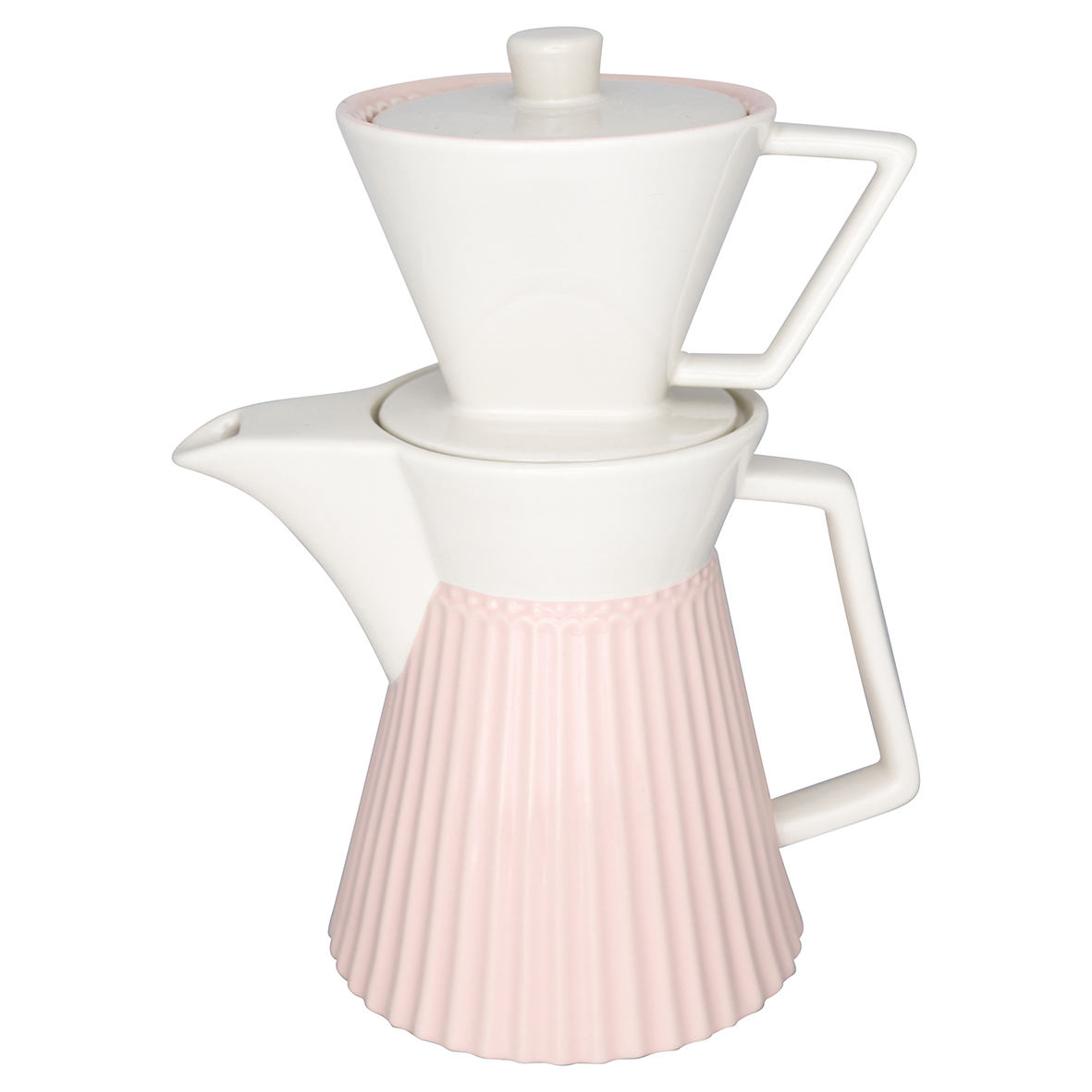 Kaffeekanne mit Kaffeefilter - Coffee pot - Alice Pale Pink- Greengate